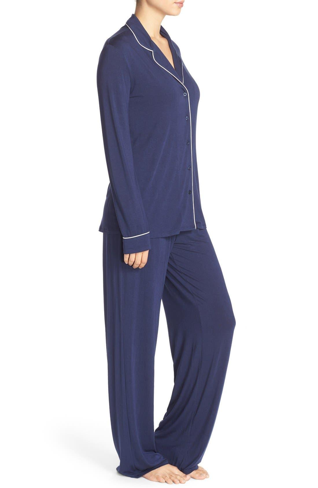 Moonlight Pajamas,                             Alternate thumbnail 3, color,                             Navy Peacoat