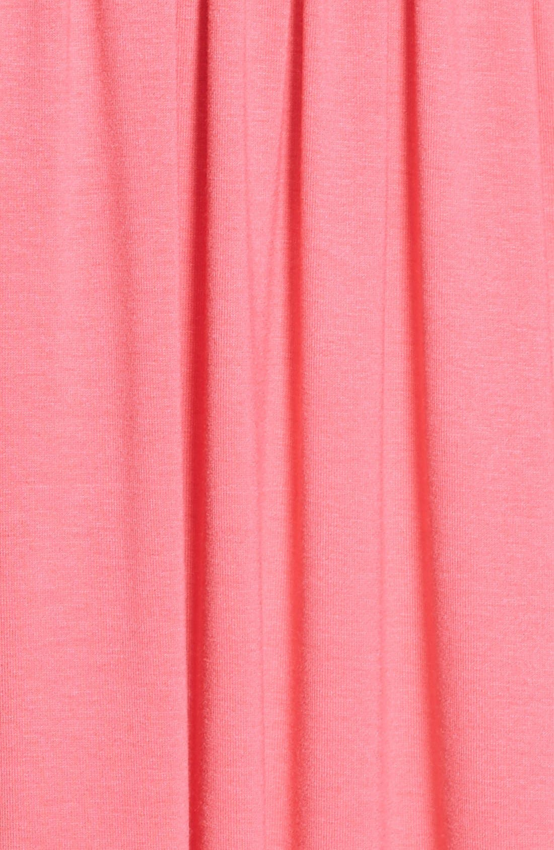Surplice Jersey Maxi Dress,                             Alternate thumbnail 5, color,                             Coral