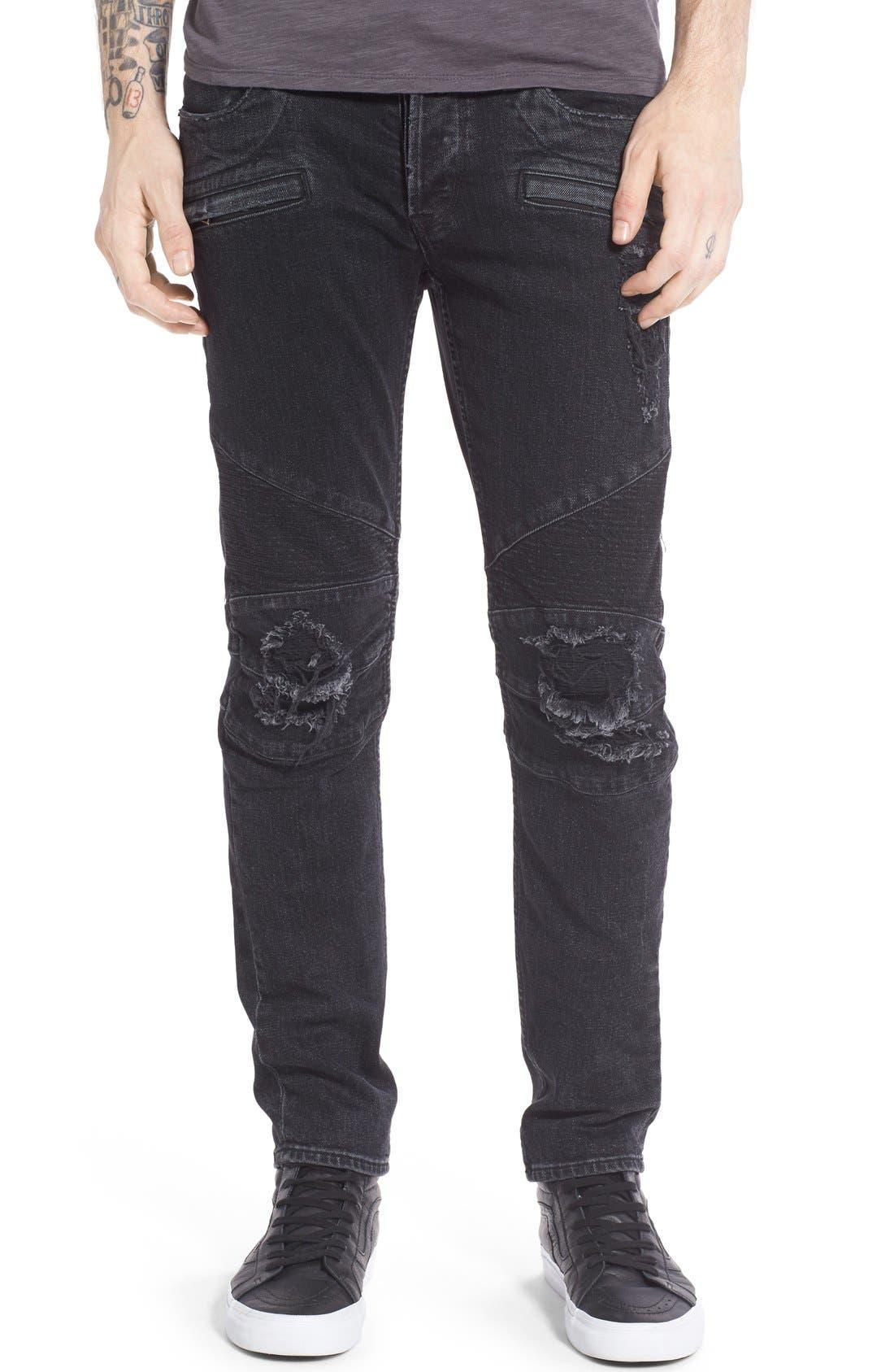 Alternate Image 1 Selected - Hudson Jeans 'Blinder' Skinny Fit Moto Jeans (Hostile)