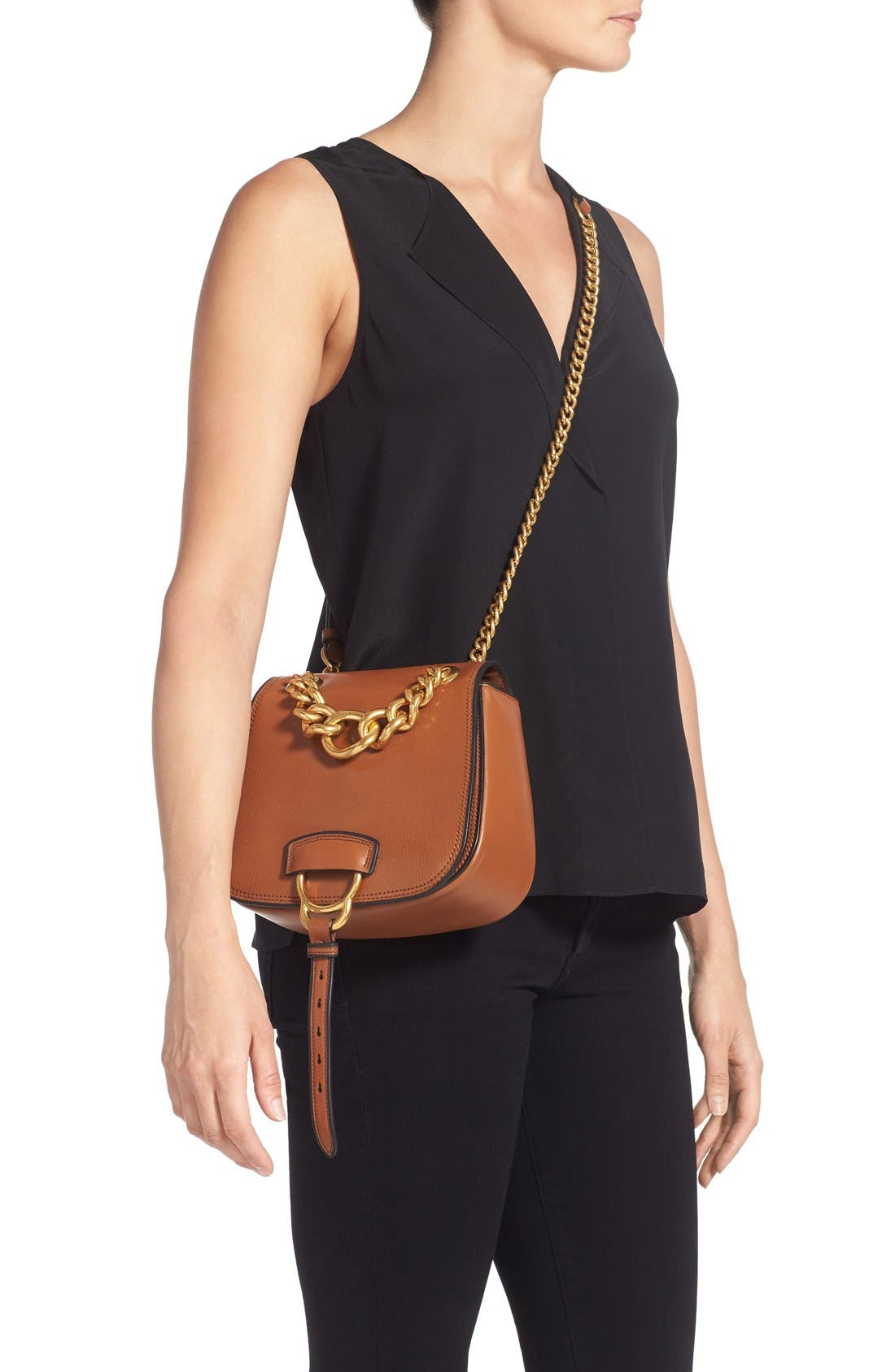 Alternate Image 2  - Miu Miu 'Dahlia' Goatskin Leather Saddle Bag