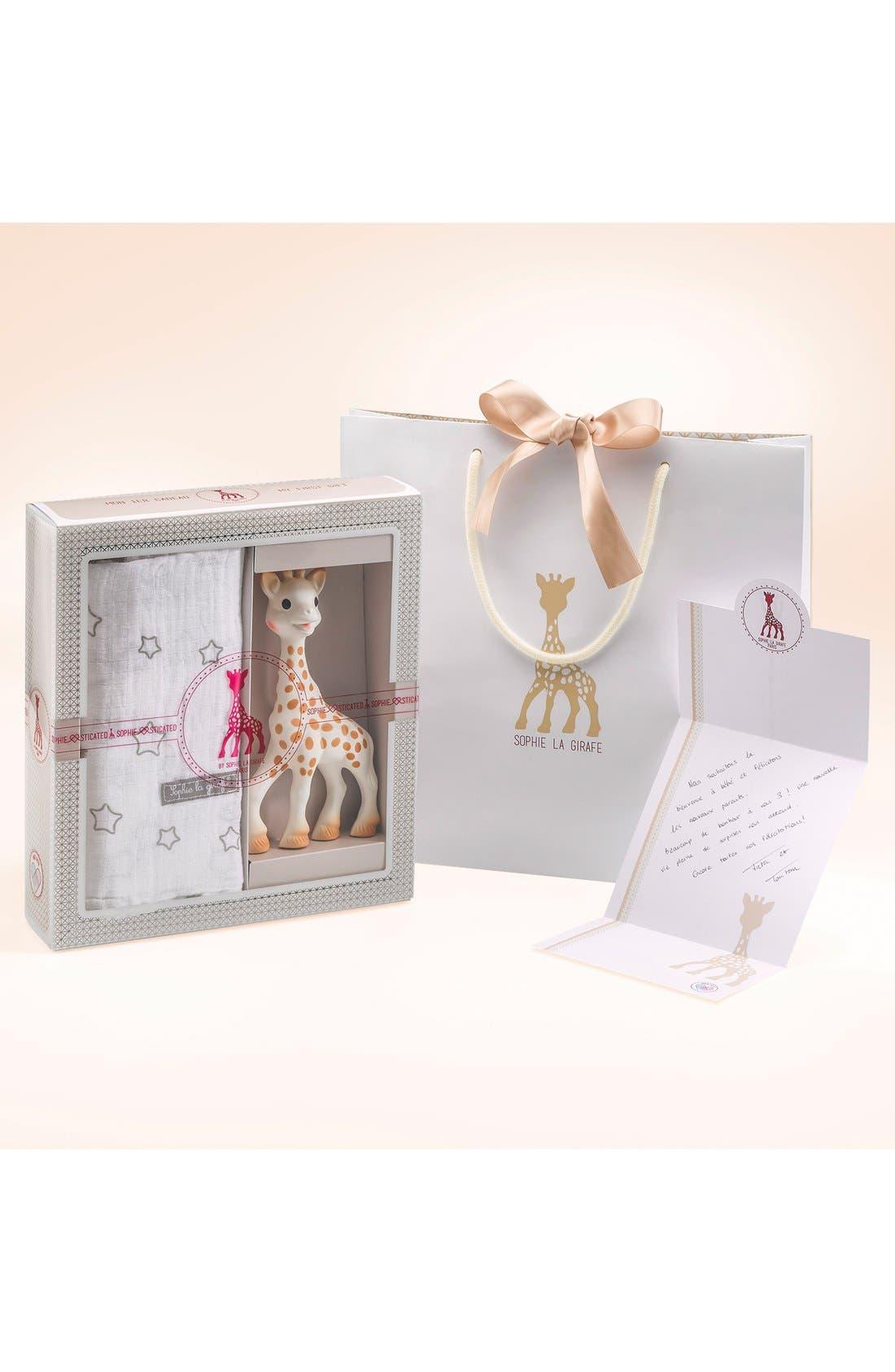 Alternate Image 2  - Sophie la Girafe 'Sophiesticated' Swaddling Cloth & Teething Toy