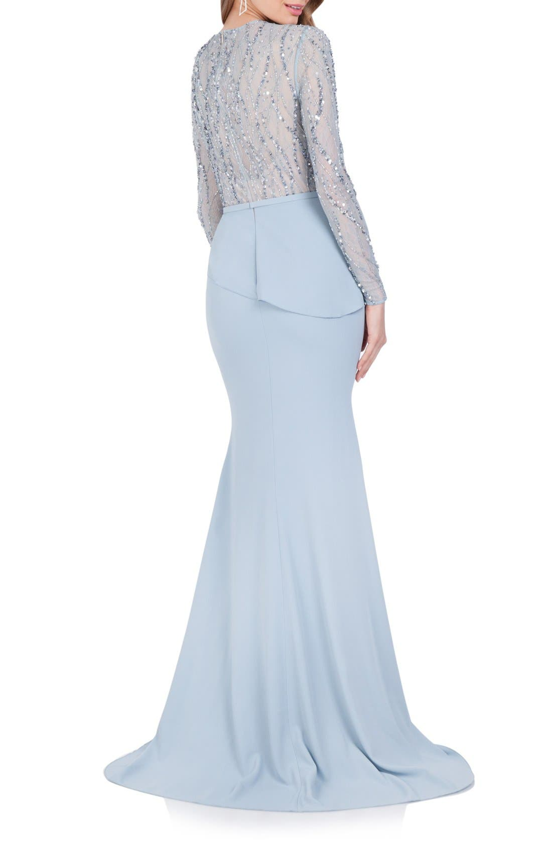 Alternate Image 2  - Terani Couture Embellished Chiffon Gown