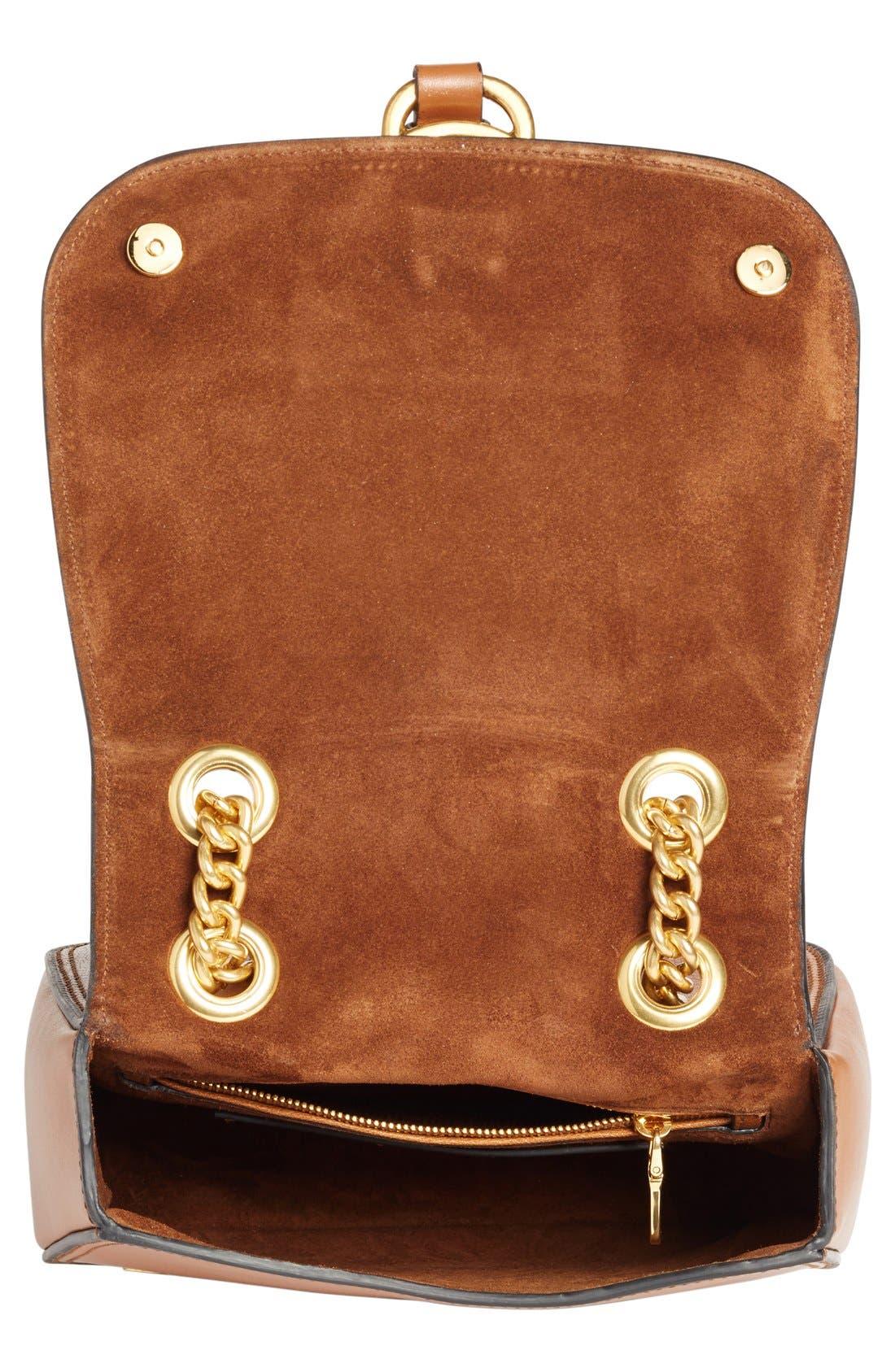 Alternate Image 4  - Miu Miu 'Dahlia' Goatskin Leather Saddle Bag