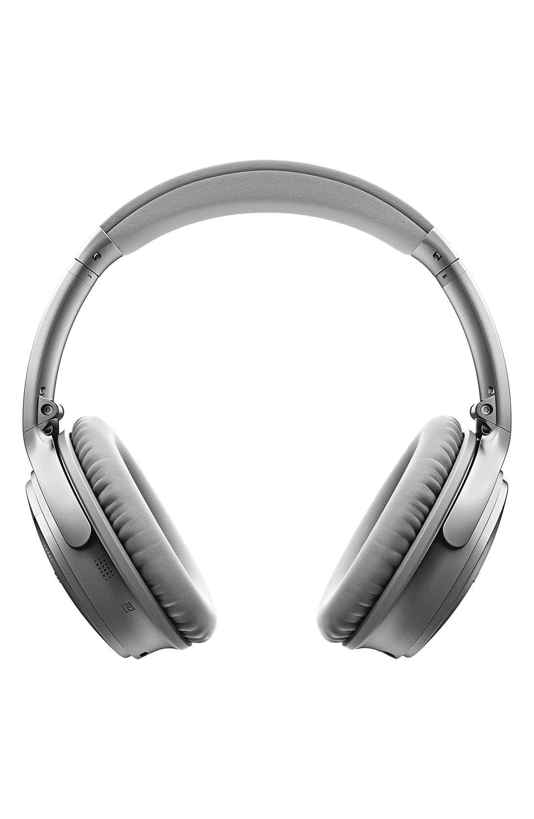 QuietComfort<sup>®</sup> 35 Acoustic Noise Cancelling<sup>®</sup> Bluetooth<sup>®</sup> Headphones,                             Alternate thumbnail 4, color,                             Silver