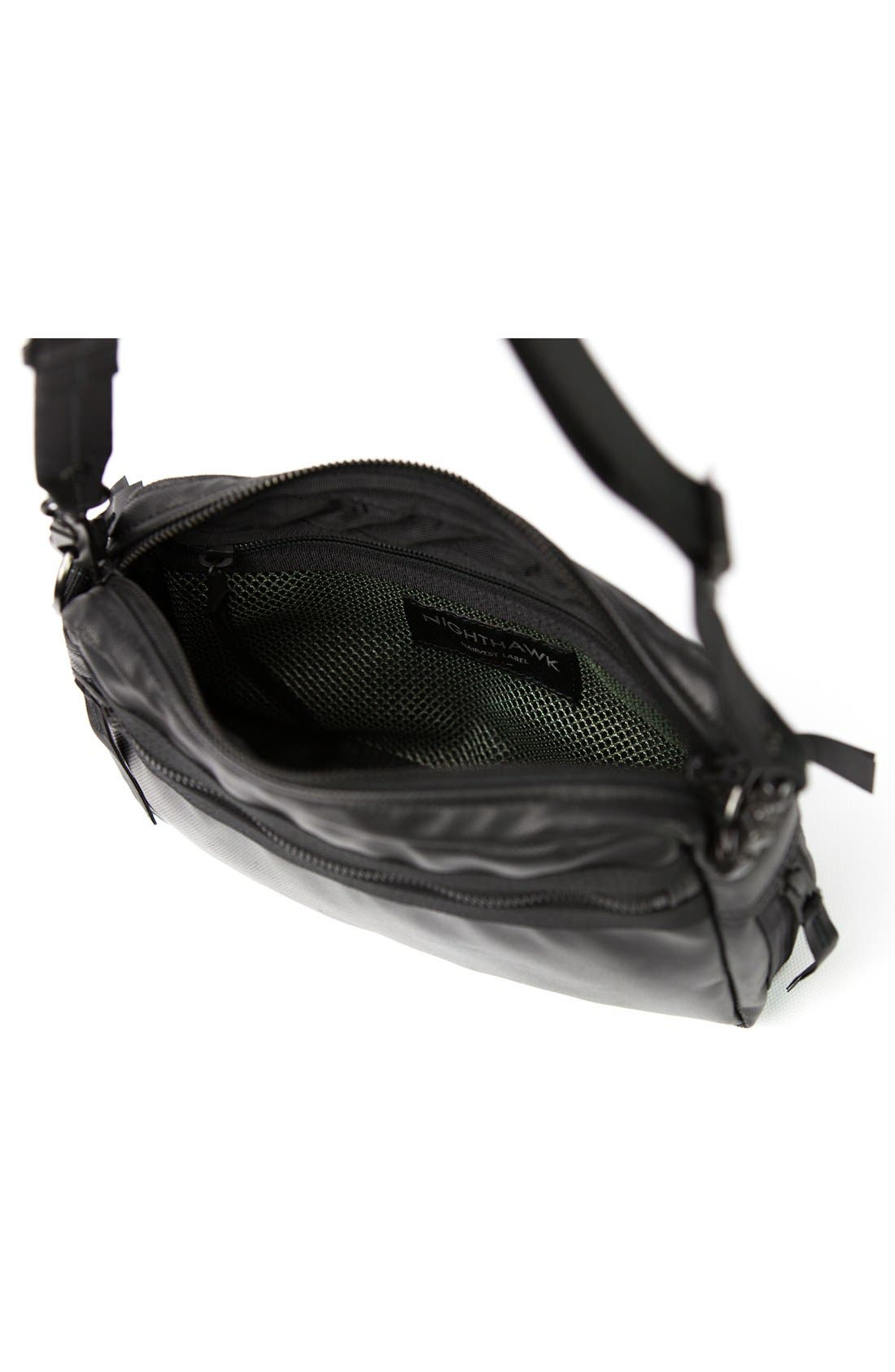 'NightHawk' Shoulder Bag,                             Alternate thumbnail 4, color,                             Black