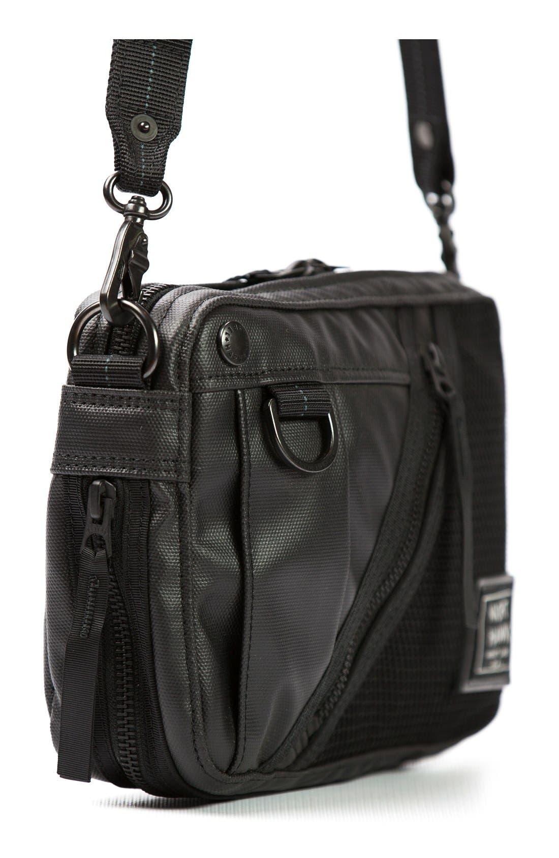 'NightHawk' Shoulder Bag,                             Alternate thumbnail 3, color,                             Black