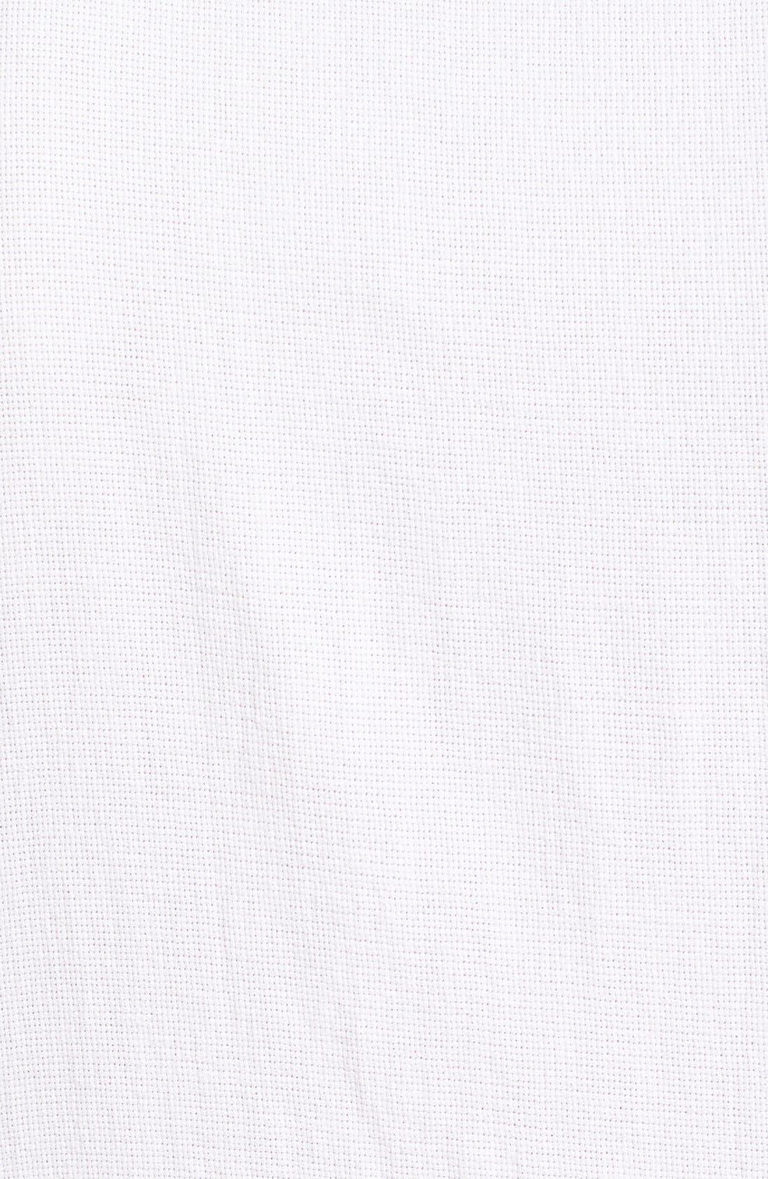 'Highland' Regular Fit Short Sleeve Woven Shirt,                             Alternate thumbnail 5, color,                             White