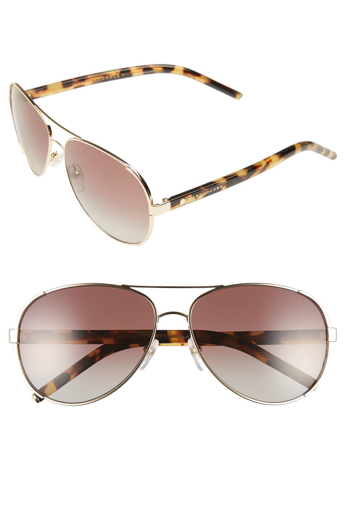 Main Image - MARC JACOBS 60mm Aviator Sunglasses