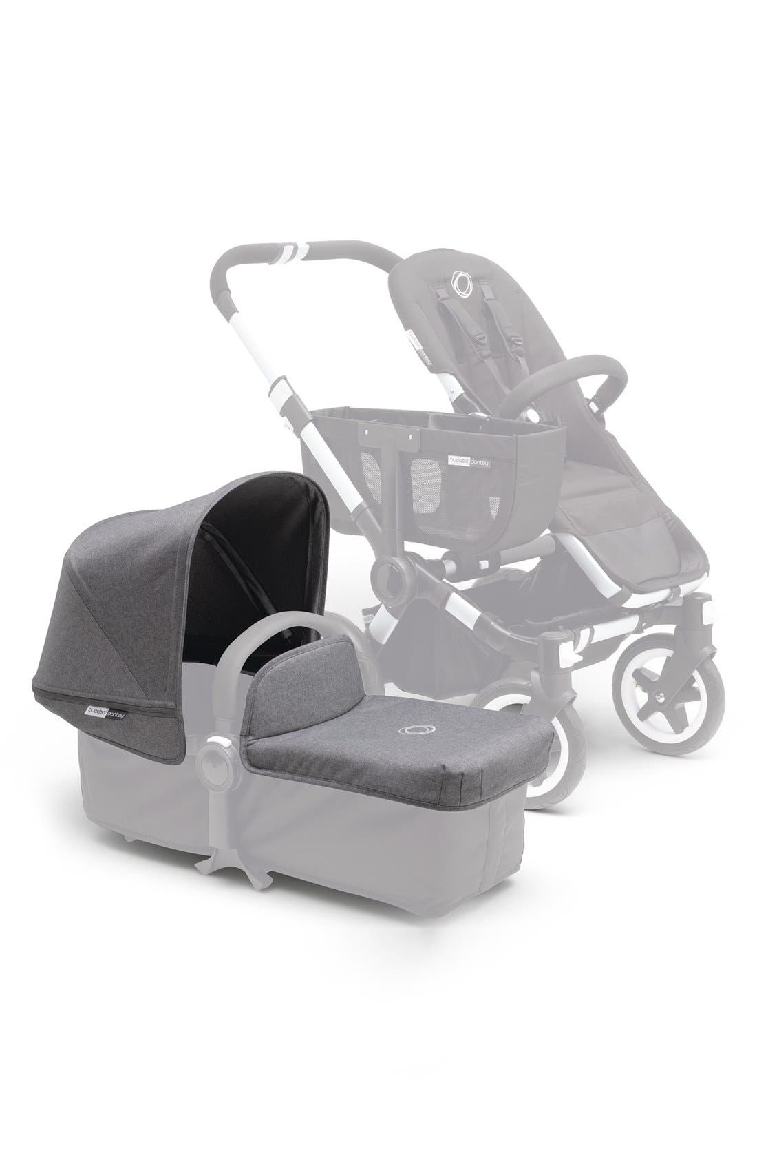 'Donkey' Stroller Tailored Fabric Set,                             Main thumbnail 1, color,                             Grey Melange