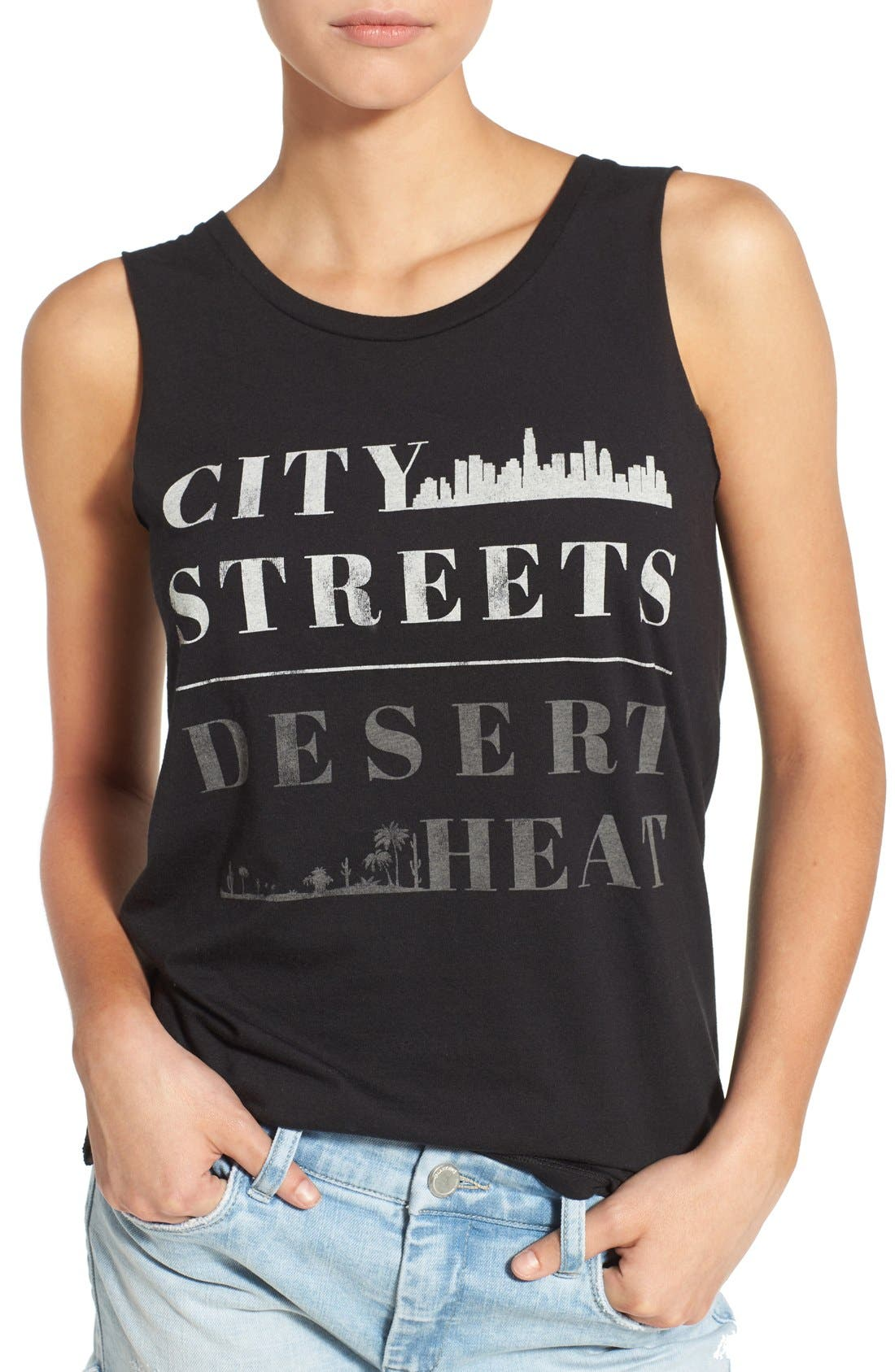 Alternate Image 4  - Element 'City Desert' Graphic Muscle Tank