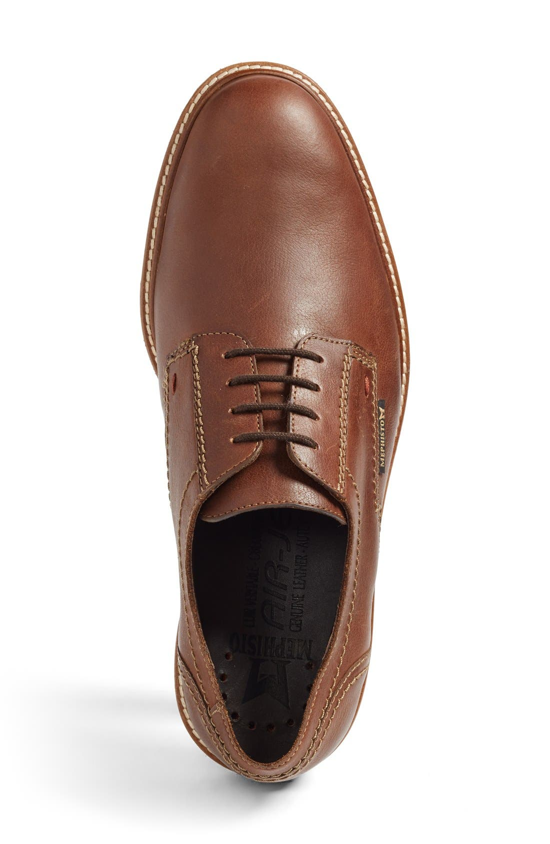 'Waino' Plain Toe Derby,                             Alternate thumbnail 2, color,                             Hazelnut Kansas Leather