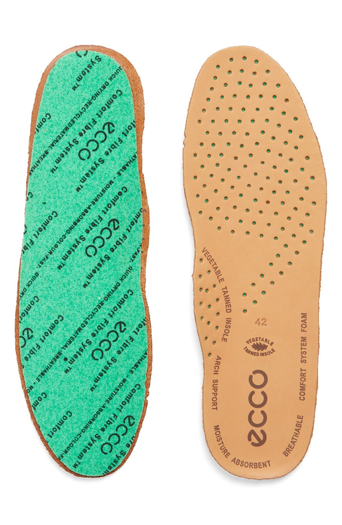 ECCO Comfort Fiber Leather Insole (Men)