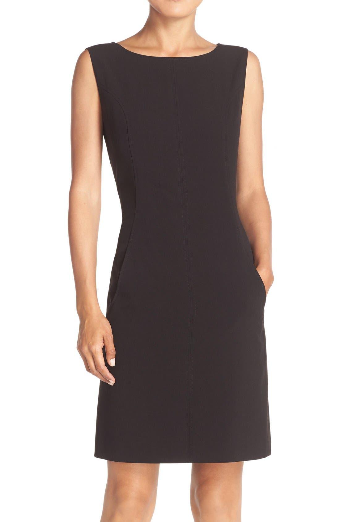 Alternate Image 1 Selected - Tahari Seamed Woven A-Line Dress