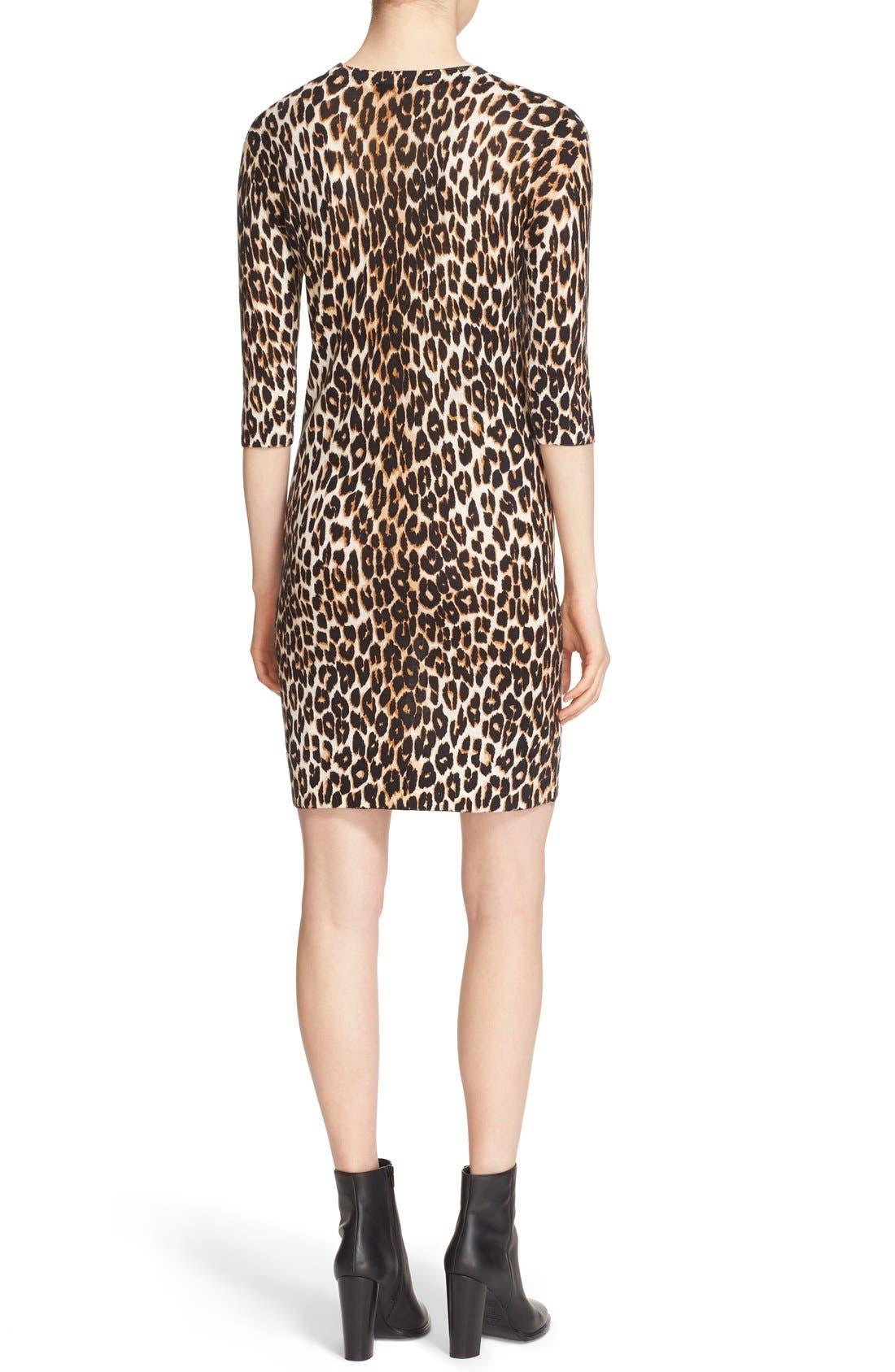 Alternate Image 2  - Equipment 'Marta' Leopard Print Silk & Cashmere Knit Dress