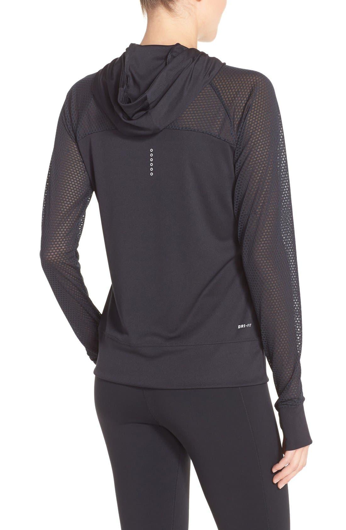 Alternate Image 2  - Nike 'Run Fast' Hooded Dri-FIT Pullover