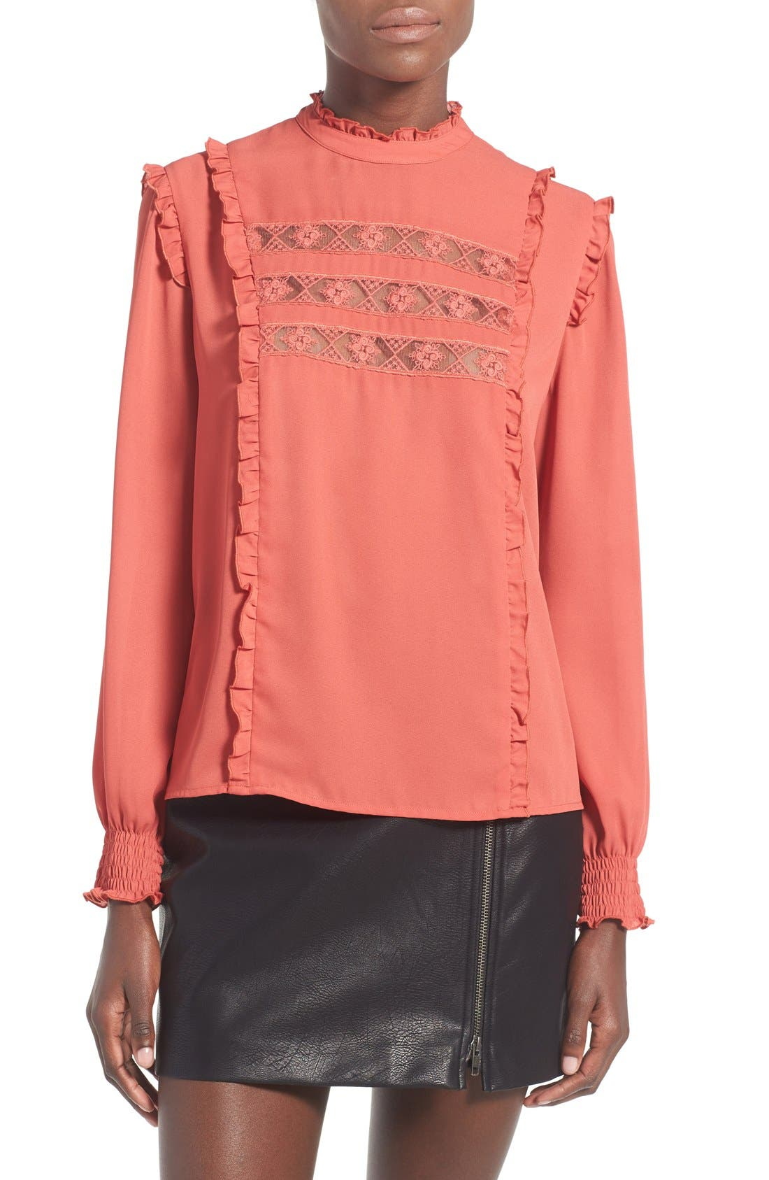 Main Image - WAYF 'Westin' Lace Peasant Top