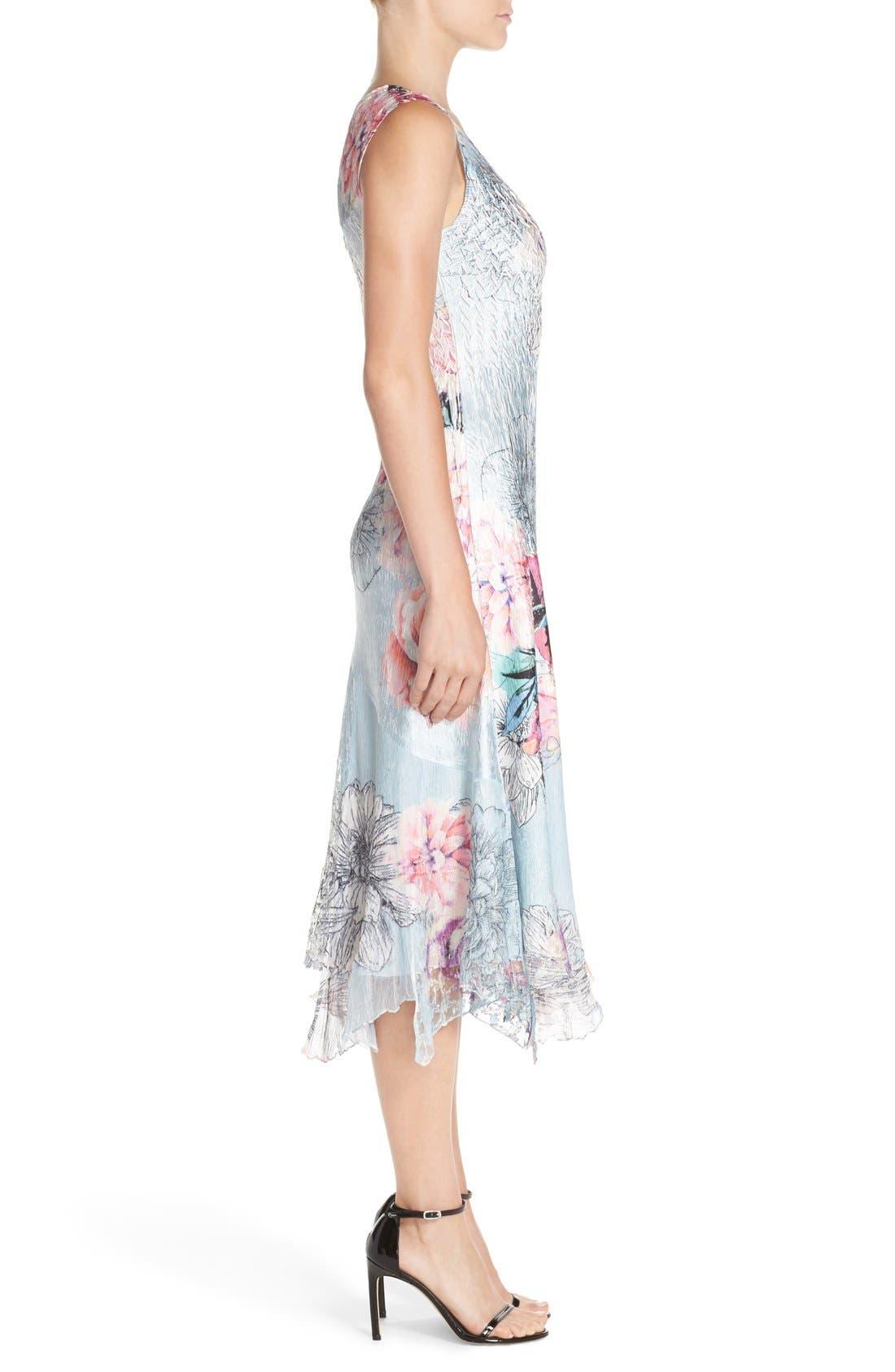 Alternate Image 3  - Komarov Mixed Media Midi Dress (Regular & Petite)