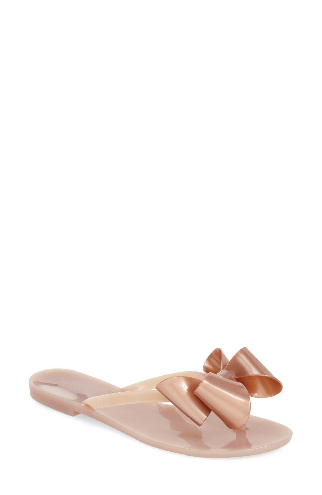 Alternate Image 1 Selected - Melissa 'Harmonic Bow' Jelly Thong Sandal (Women)