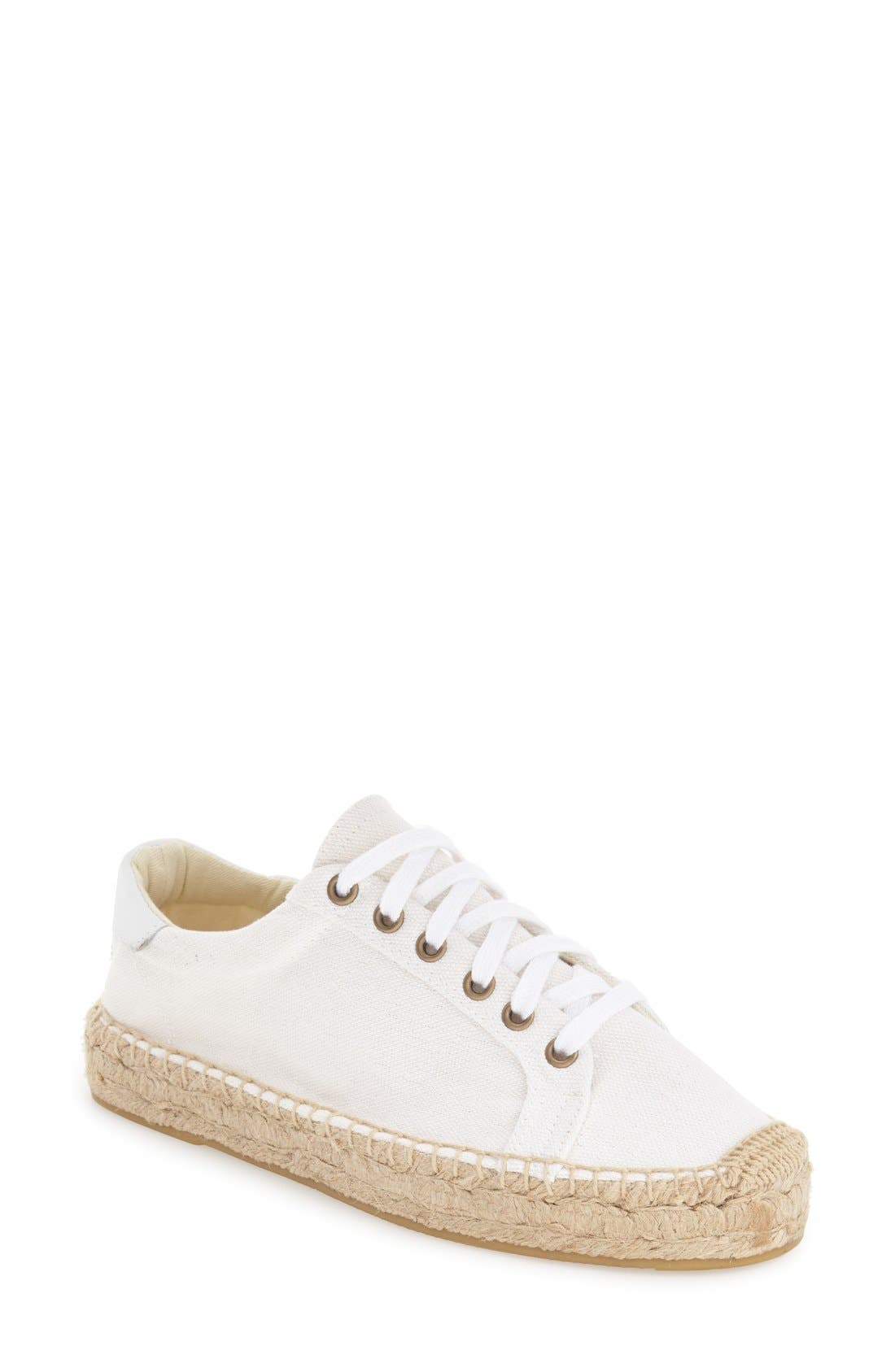Espadrille Platform Sneaker,                             Main thumbnail 1, color,                             Bright White Canvas