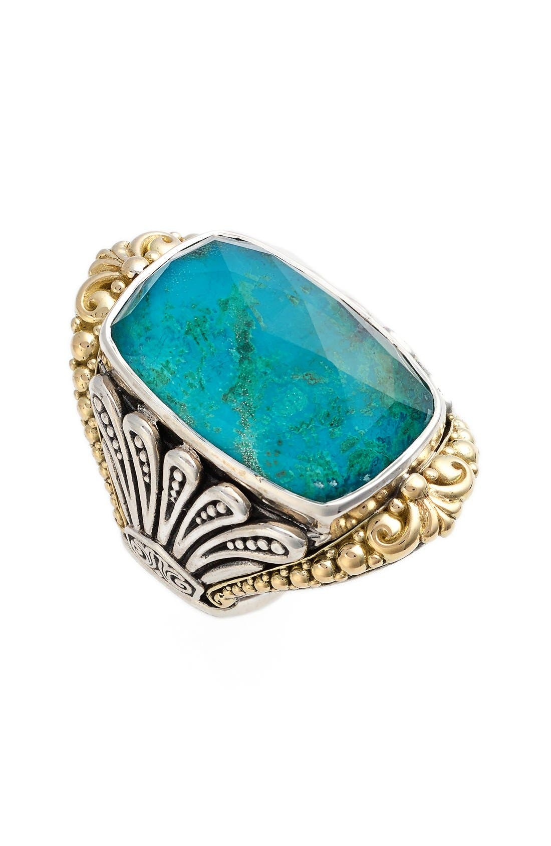 'Iliada' Large Doublet Ring,                             Main thumbnail 1, color,                             Blue/ Green