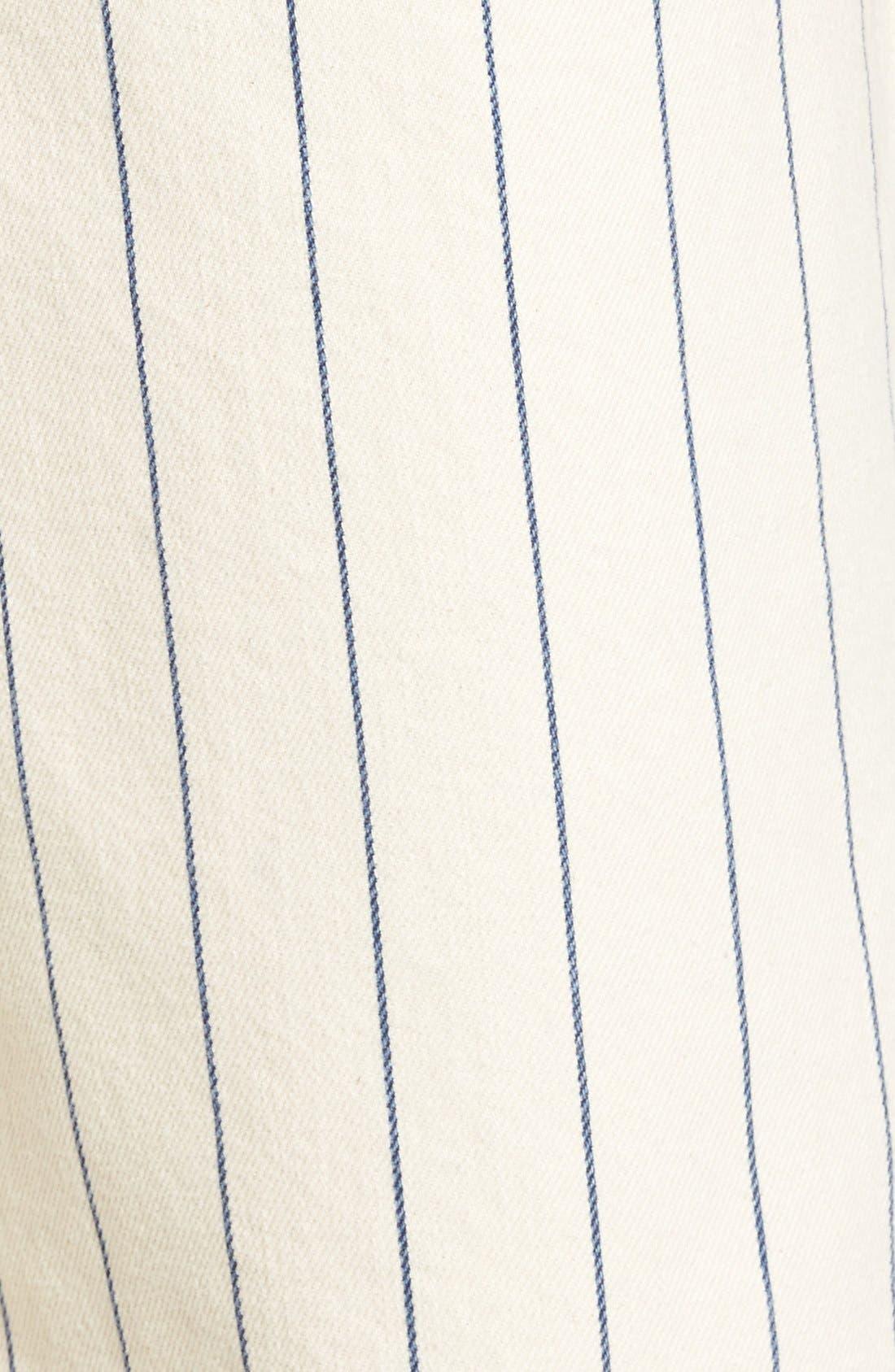 Alternate Image 6  - Topshop Pinstripe Frayed Culottes