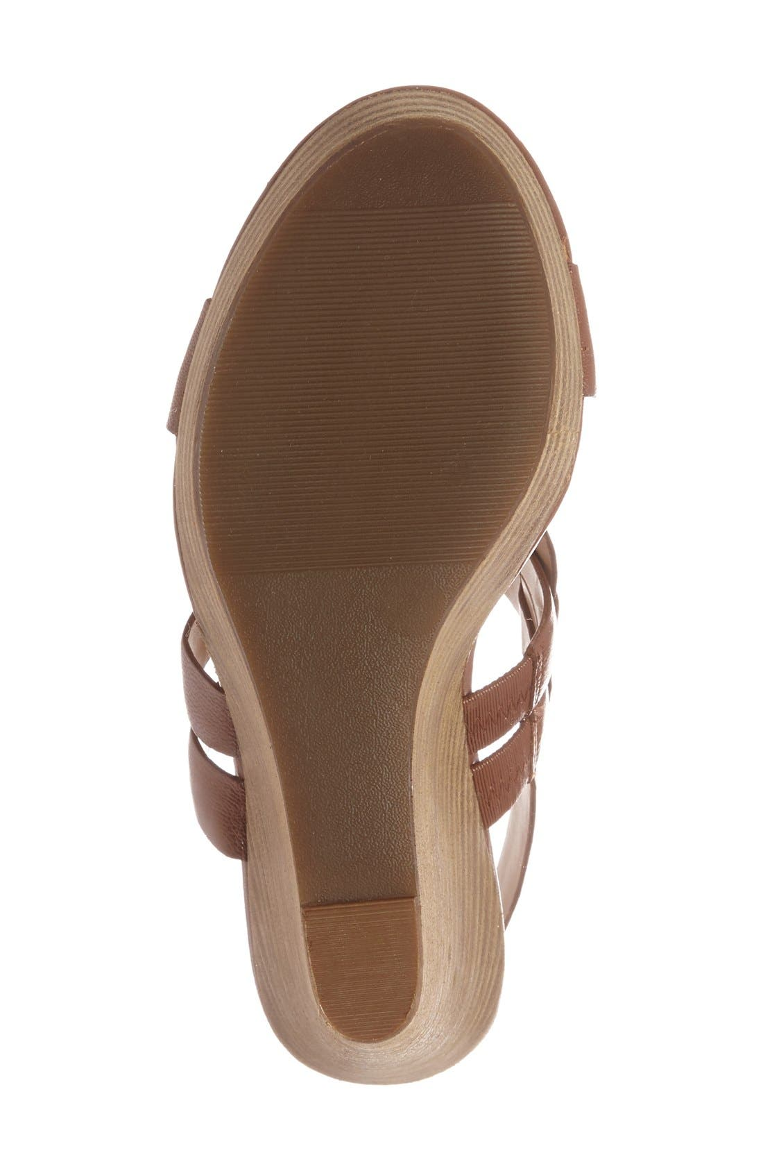 'Jenny' Slingback Wedge Sandal,                             Alternate thumbnail 4, color,                             Equestrian Tan