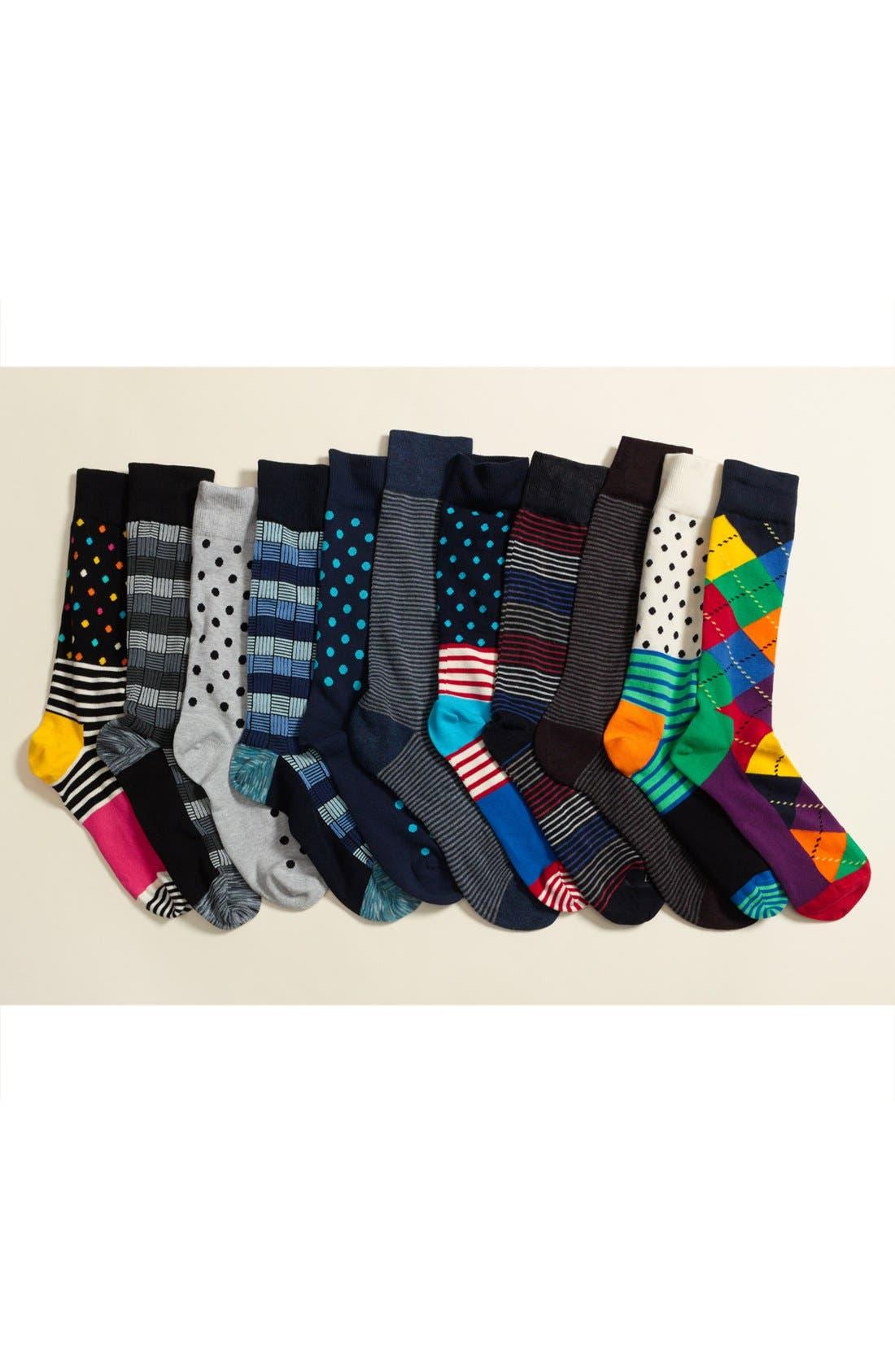 Feeder Stripe Socks,                             Alternate thumbnail 2, color,