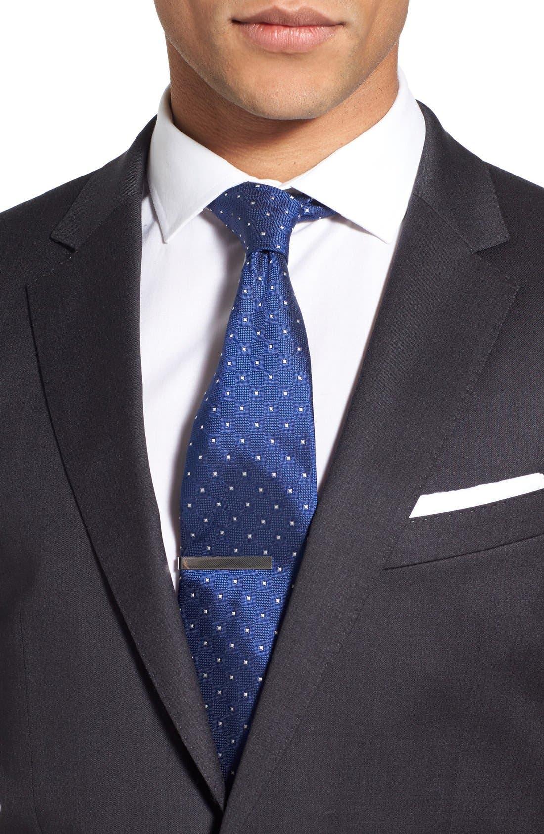 'Ryan/Win' Extra Trim Fit Solid Wool Suit,                             Alternate thumbnail 4, color,                             Dark Grey