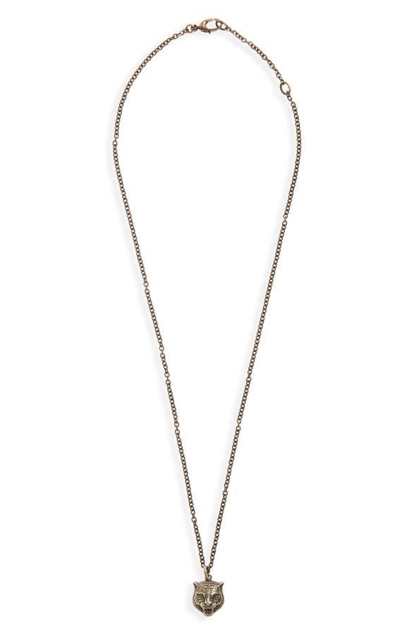 Gucci feline head pendant necklace nordstrom main image gucci feline head pendant necklace aloadofball Gallery