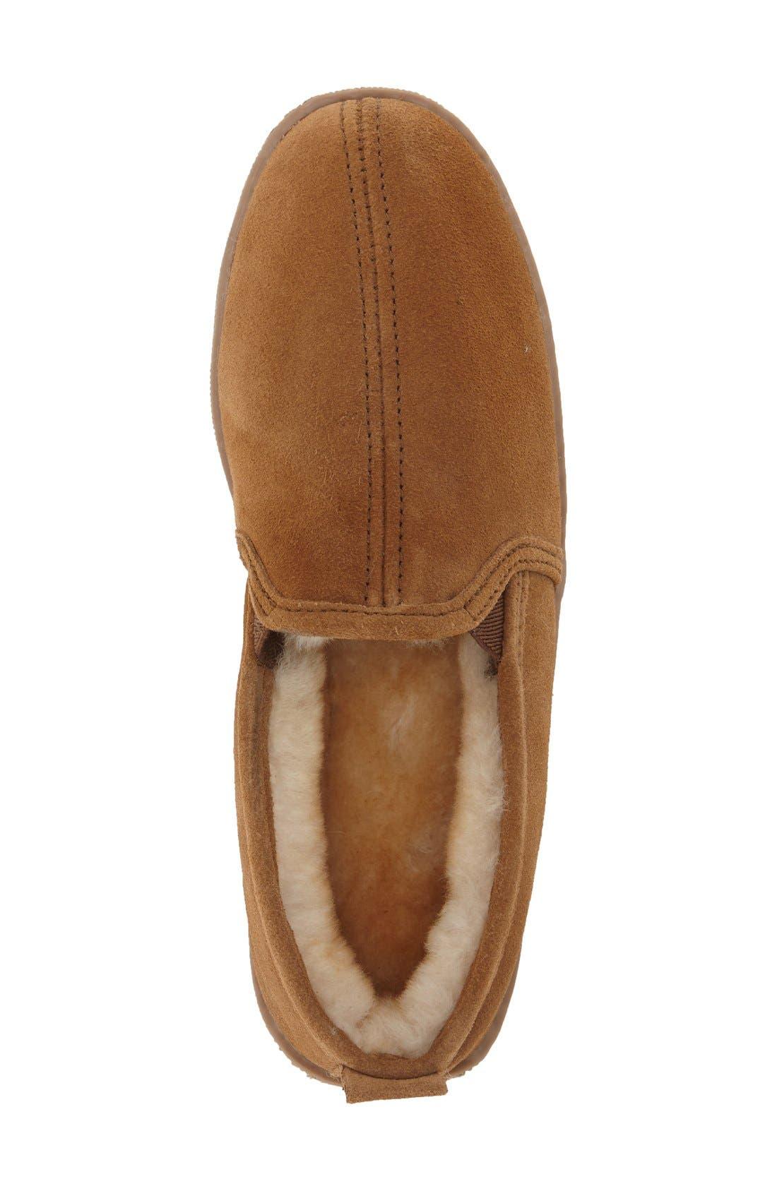 Alternate Image 3  - Minnetonka Genuine Shearling Lined Slipper (Men)