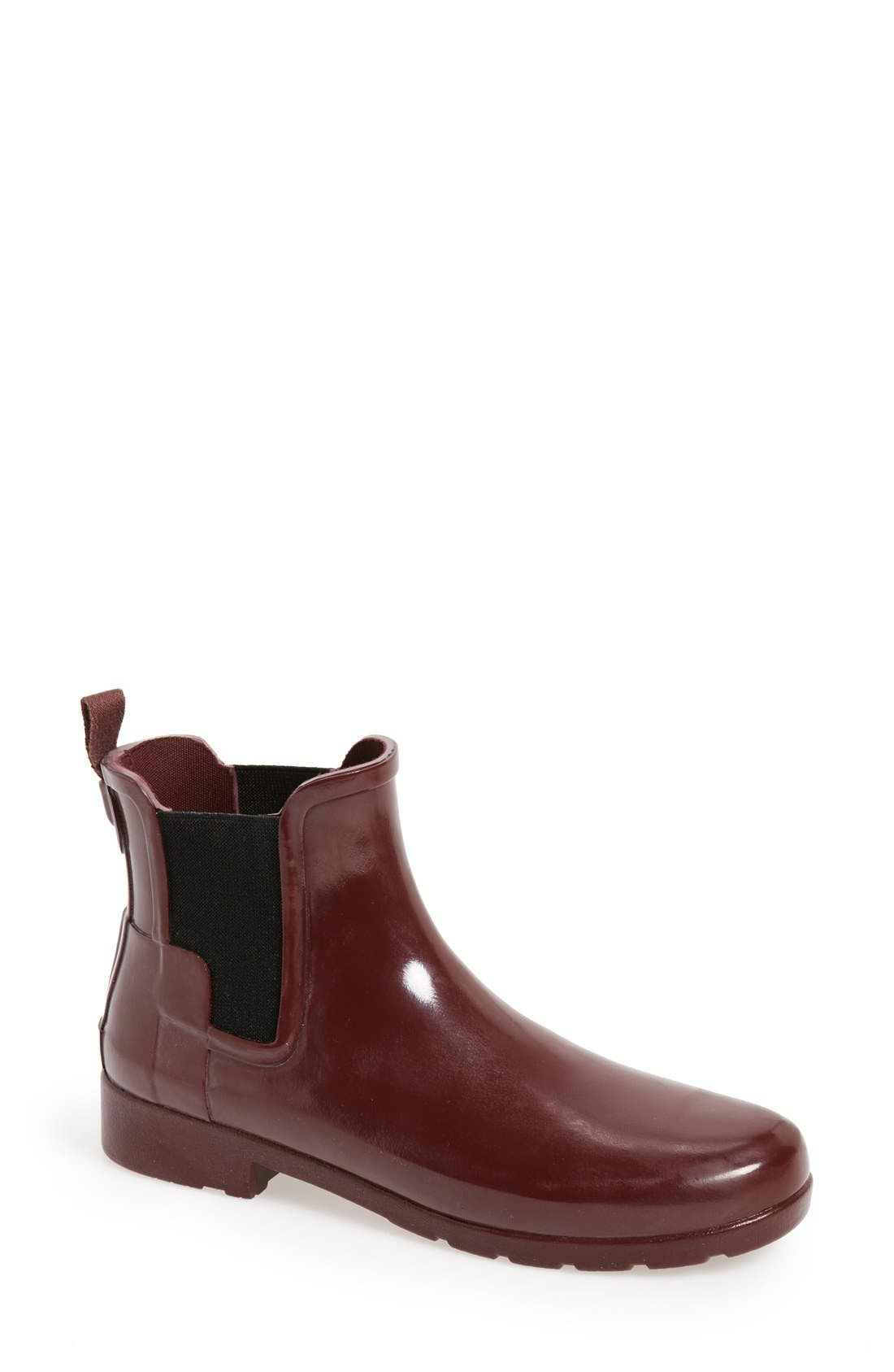 Alternate Image 1 Selected - Hunter 'Original Refined' Chelsea Rain Boot (Women)