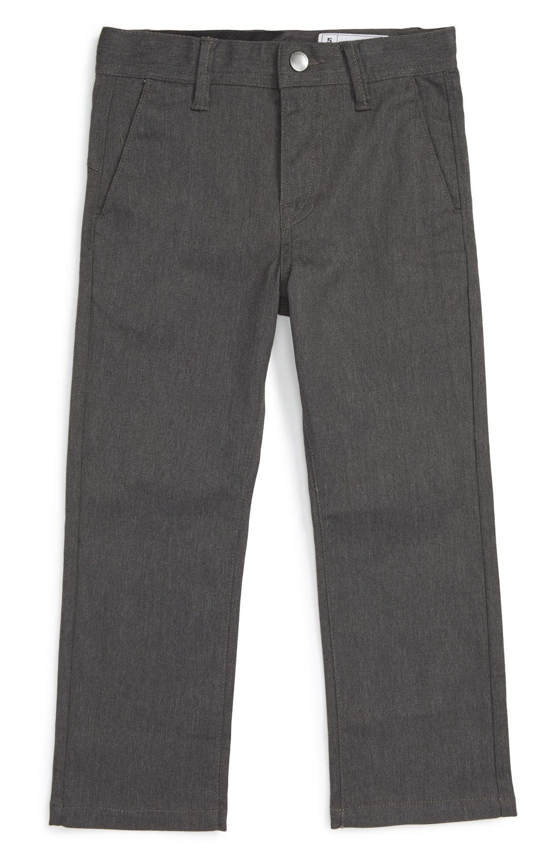 Modern Stretch Chinos,                             Main thumbnail 1, color,                             Charcoal Heather