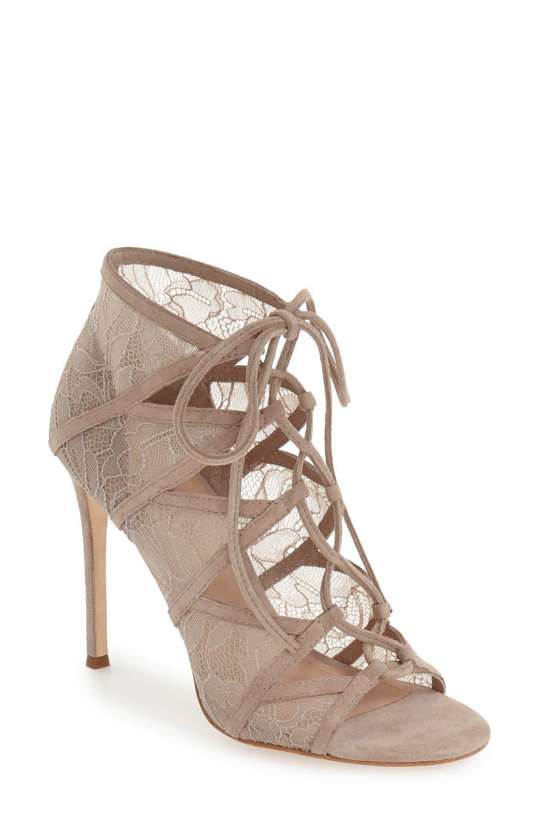 Alternate Image 1 Selected - Pour la Victoire 'Ellery' Lace-Up Sandal (Women)