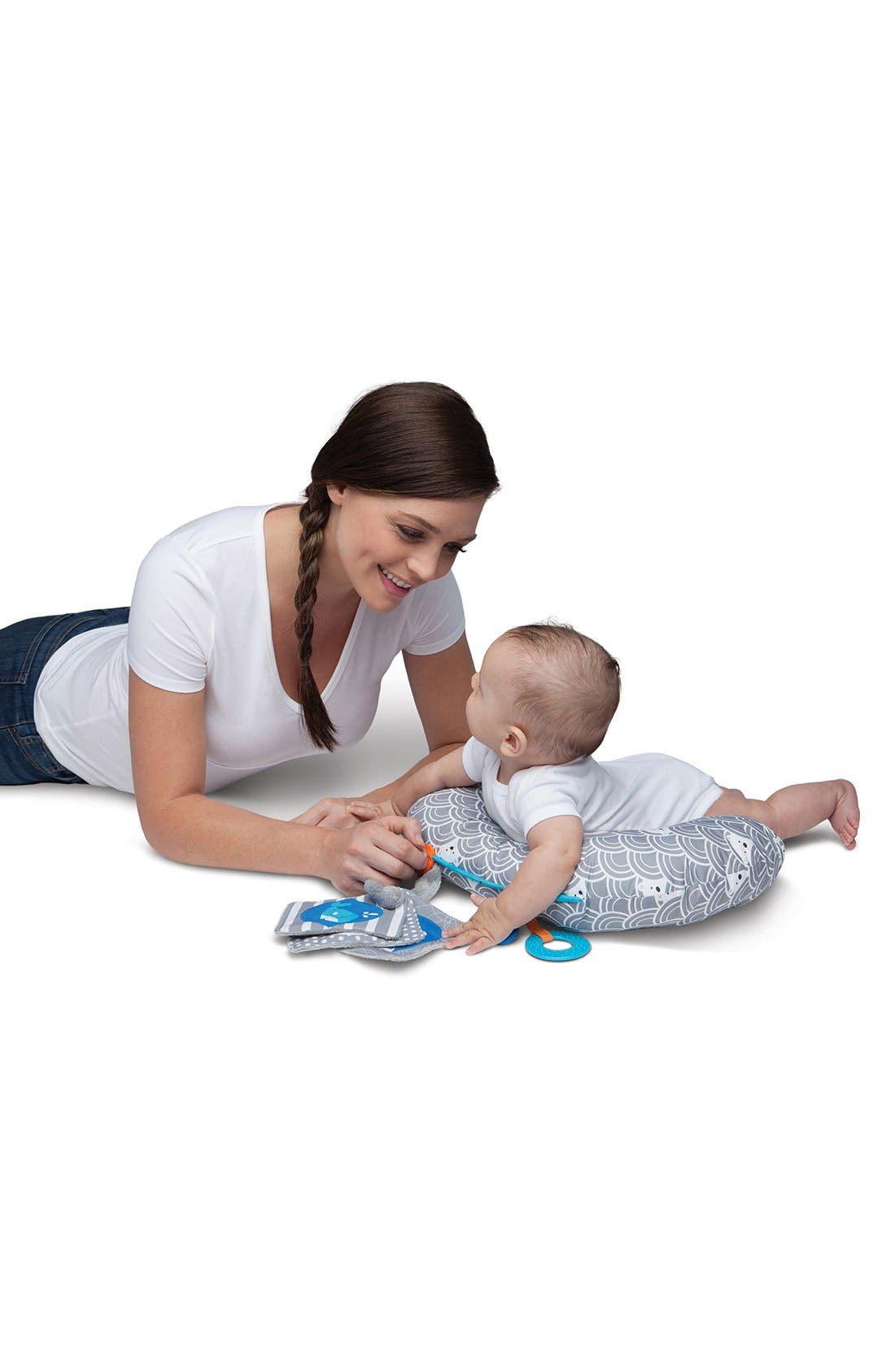 Alternate Image 7  - Boppy 'Tummy Time - SlideLine Collection' Mini Pillow, Book & Teething Ring (Baby)