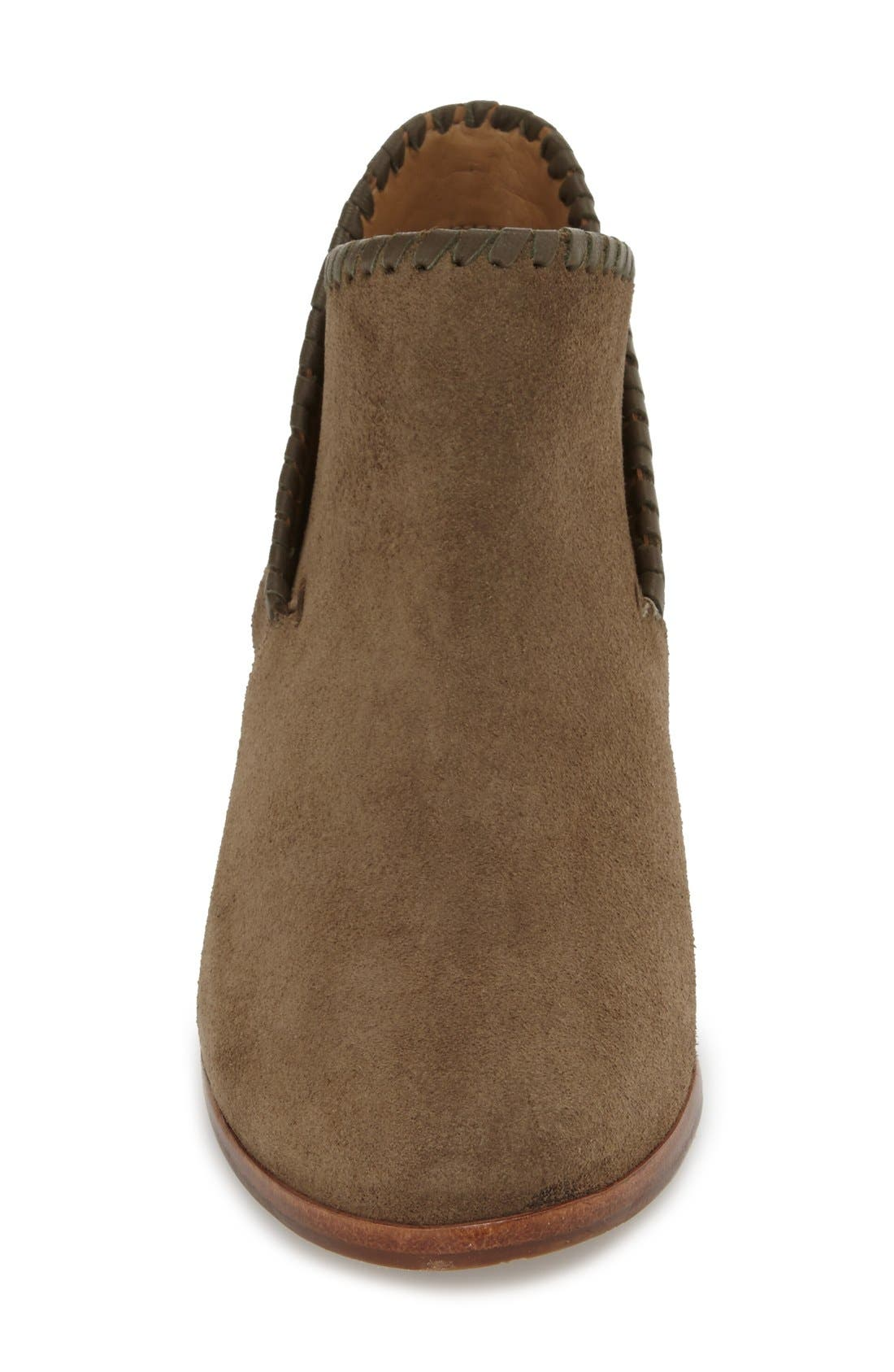 'Sadie' Bootie,                             Alternate thumbnail 3, color,                             Olive Suede