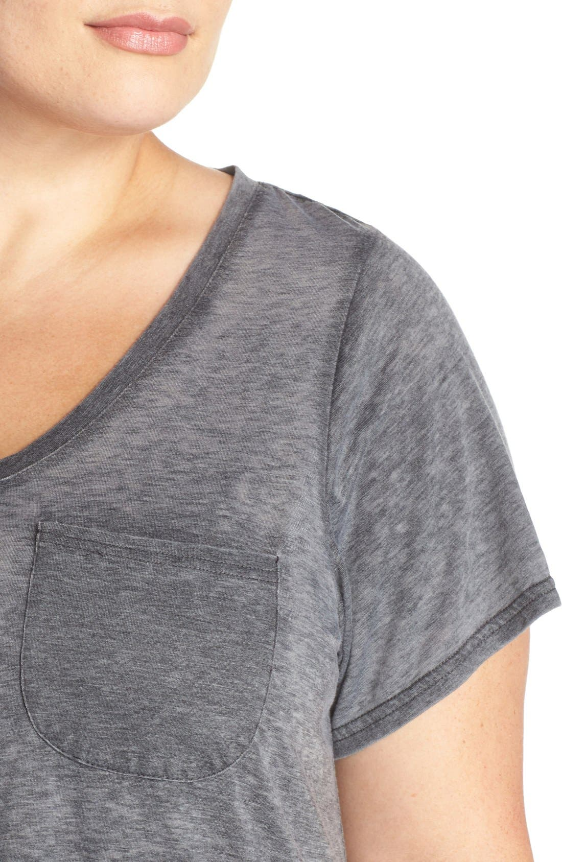 'Gotta Have It' V-Neck Tee,                             Alternate thumbnail 4, color,                             Charcoal