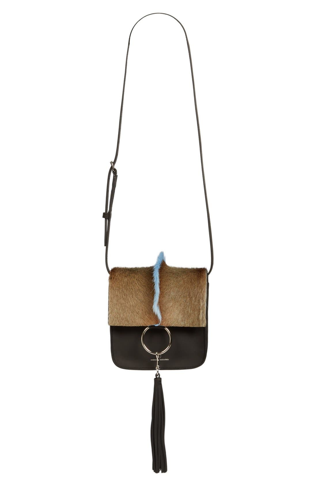 Alternate Image 1 Selected - Brother Vellies 'Palma' Springbok & Leather Crossbody Bag