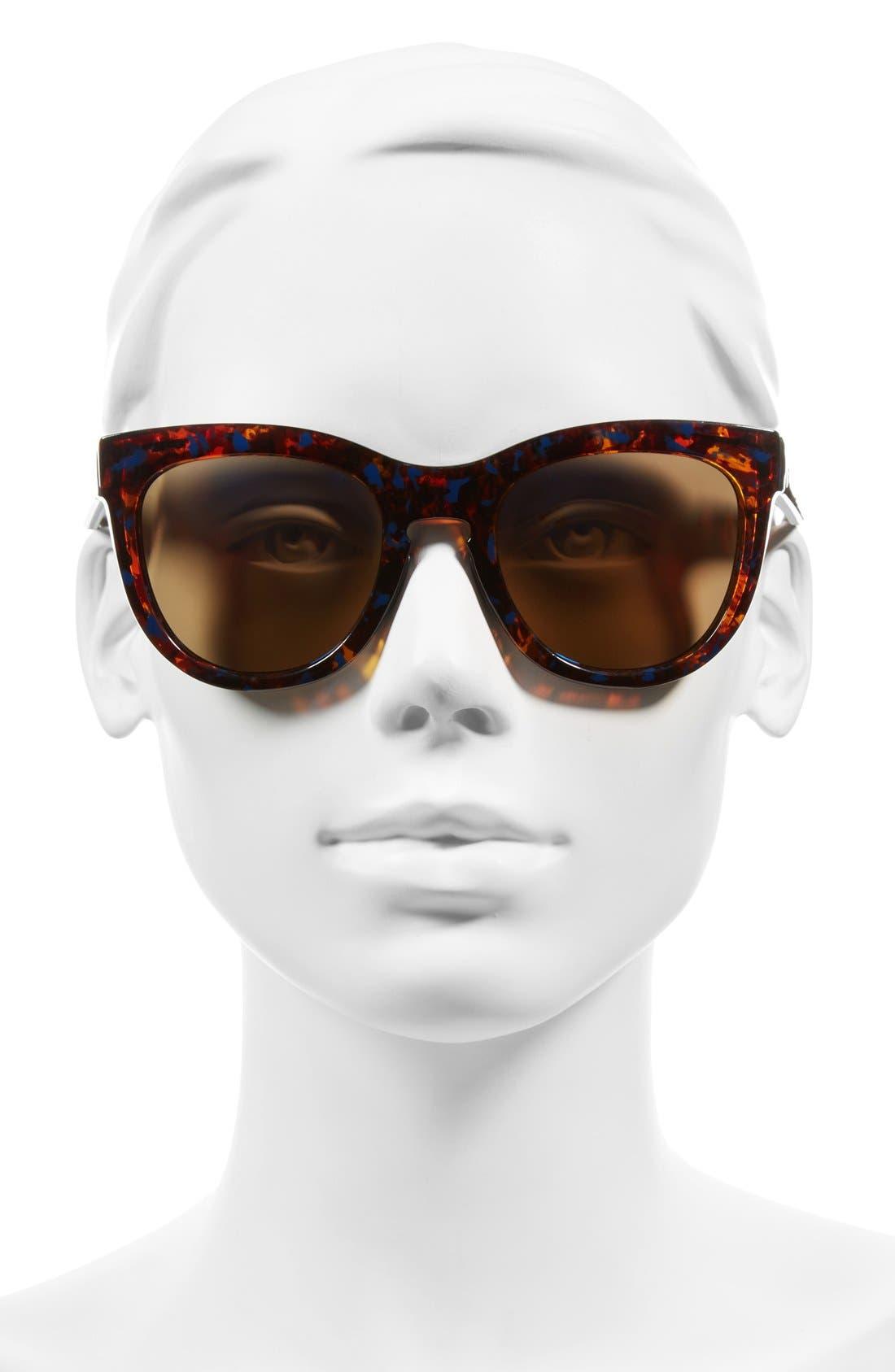 'Sidney' 52mm Sunglasses,                             Alternate thumbnail 2, color,                             Flecked Blue Tortoise