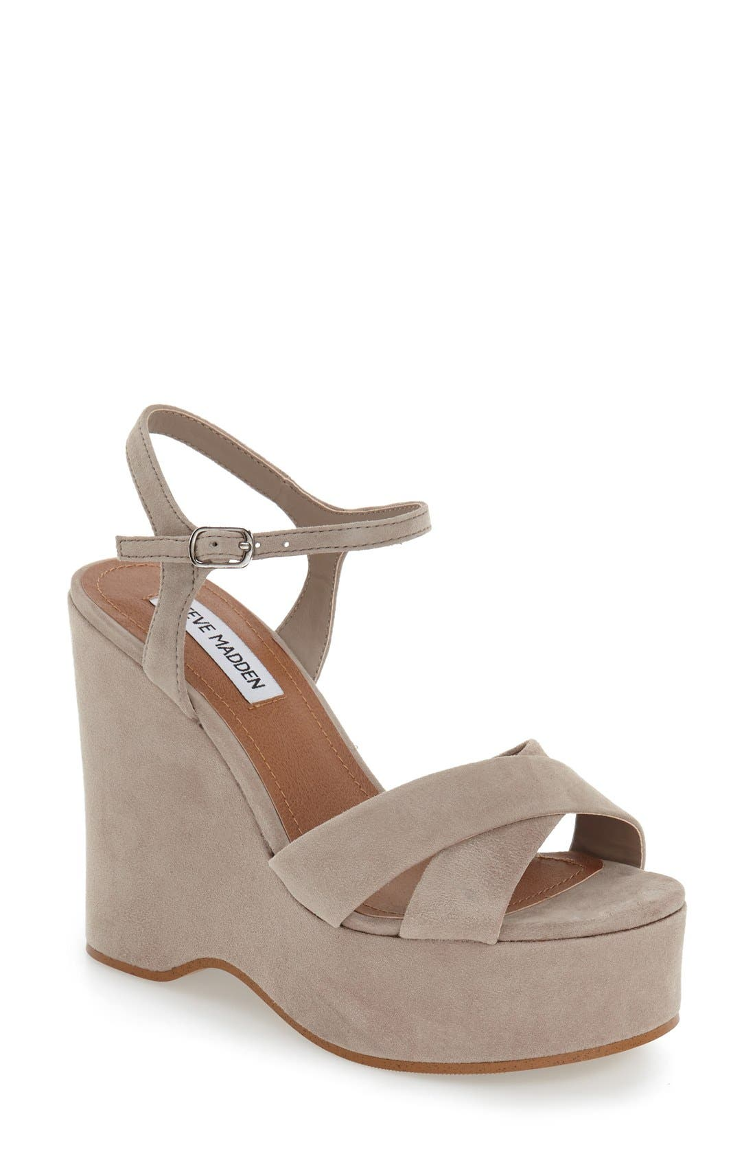 Alternate Image 1 Selected - Steve Madden 'Casper' Platform Wedge Sandal (Women)