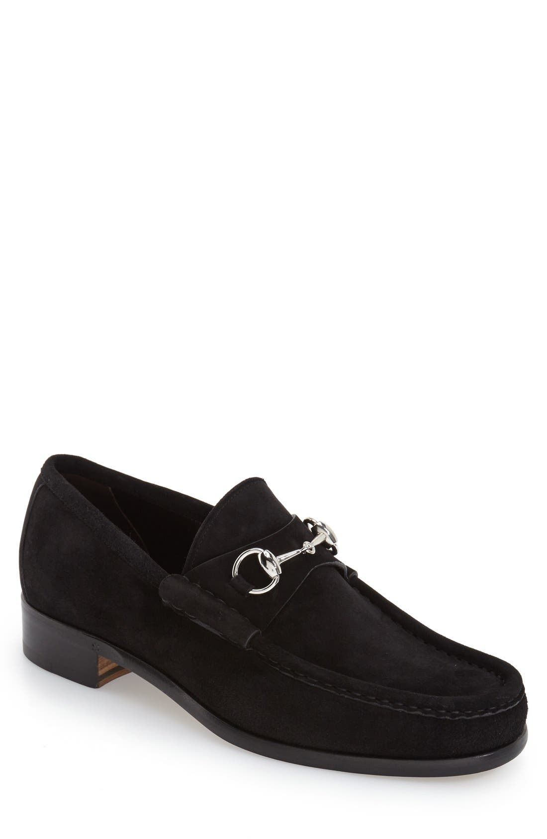 Alternate Image 1 Selected - Gucci Classic Suede Moccasin