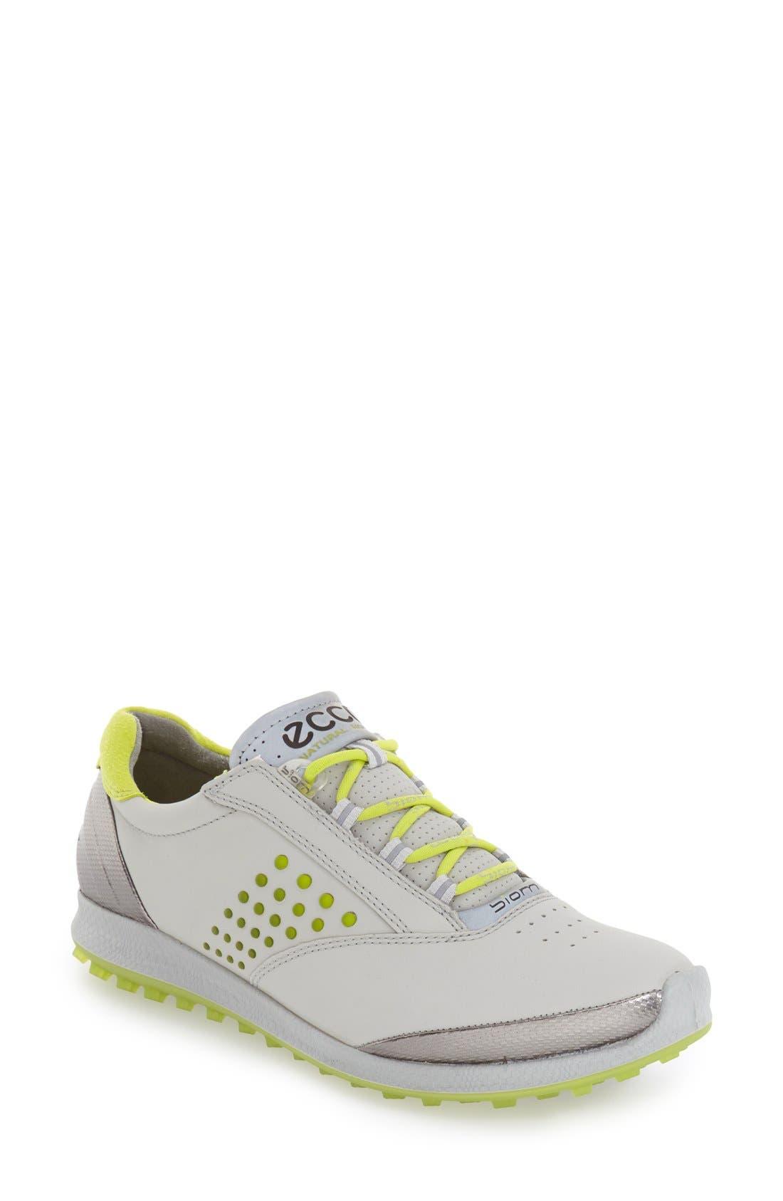 'BIOM' Hydromax<sup>®</sup> Waterproof Golf Shoe,                         Main,                         color, Concrete Leather