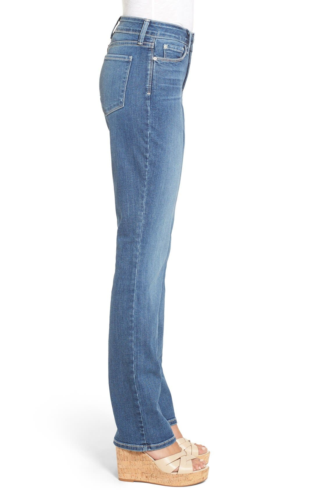 Marilyn Stretch Straight Leg Jeans,                             Alternate thumbnail 3, color,                             Heyburn