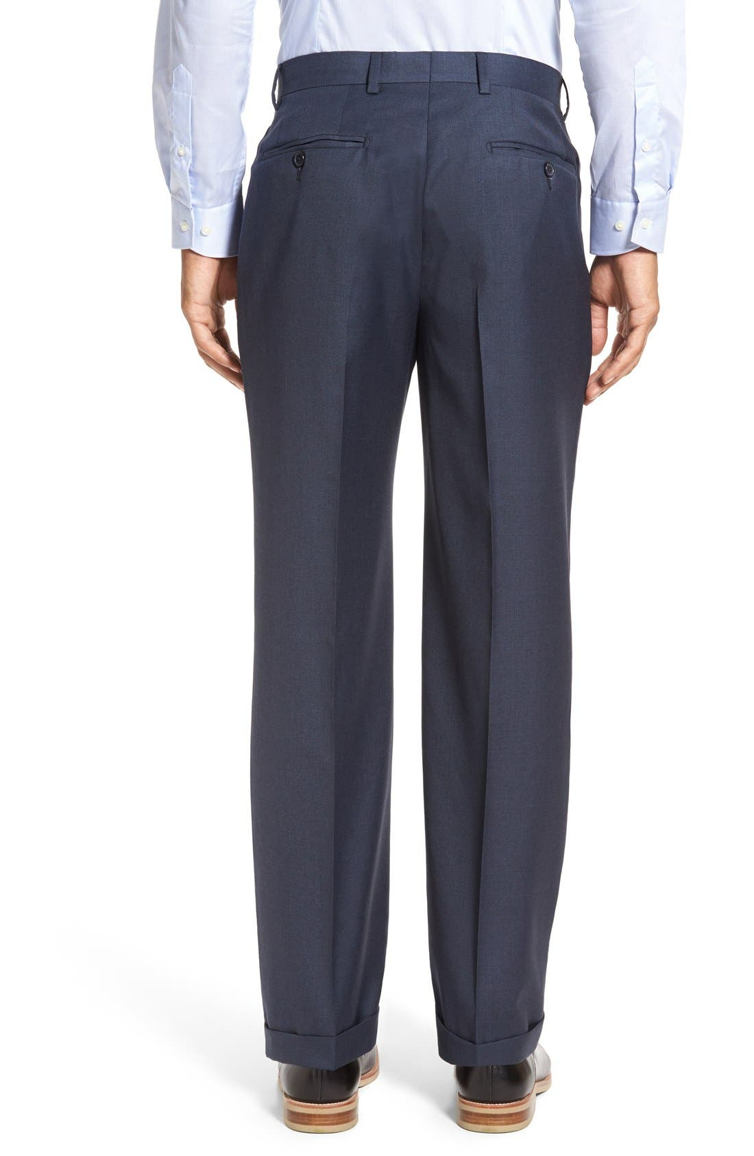 Alternate Image 2  - Santorelli 'Luxury Serge' Double Pleated Wool Trousers