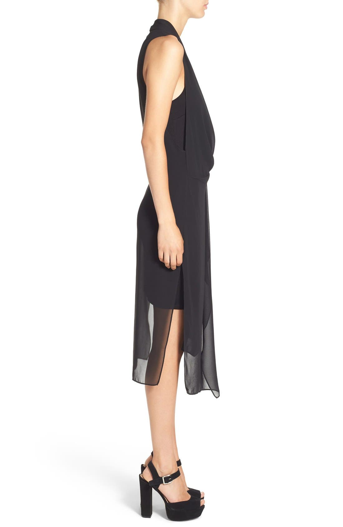 Alternate Image 4  - ASTR Gathered Front Layer Dress