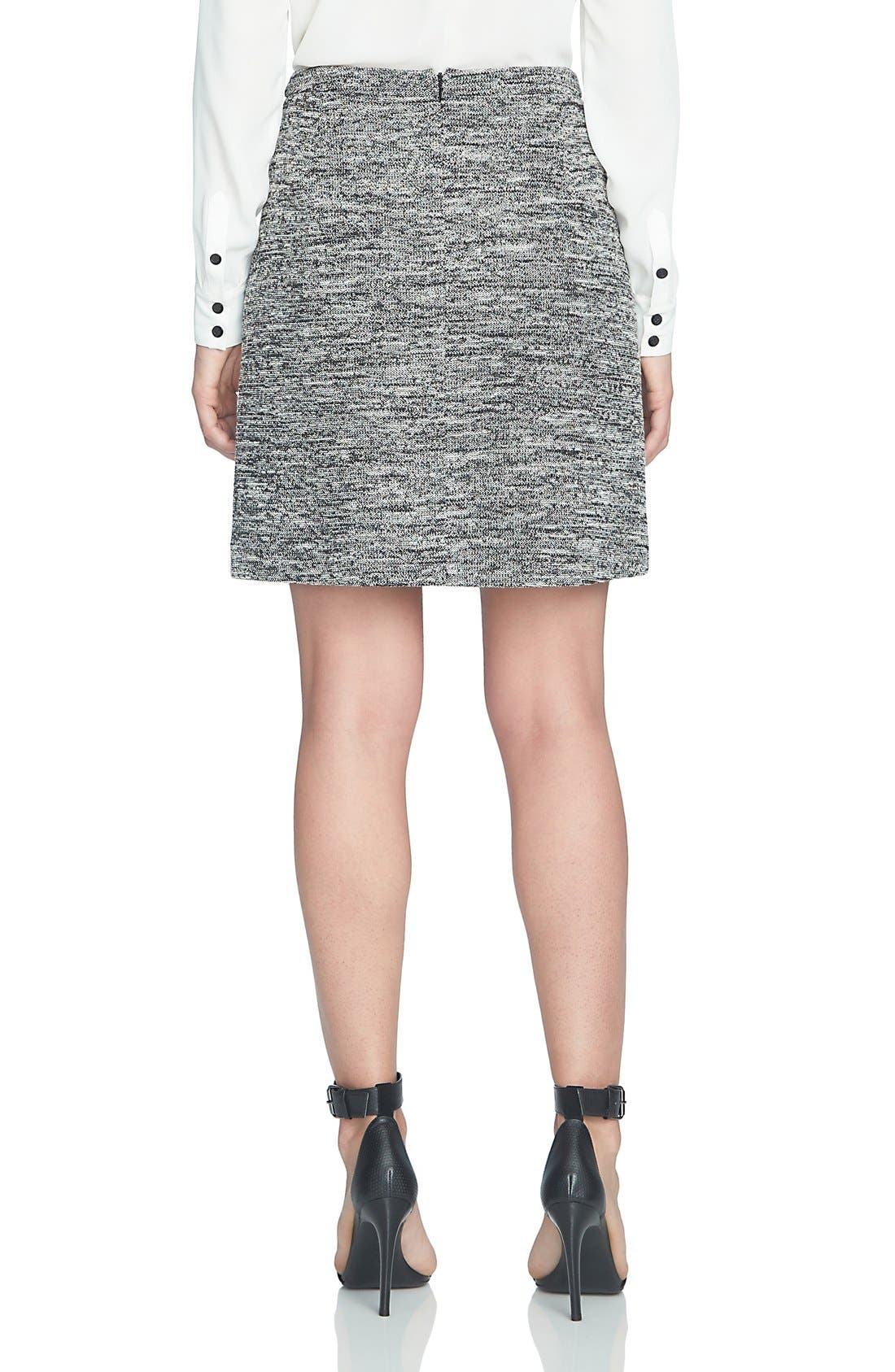 Alternate Image 3  - CeCe Stretch Tweed Miniskirt