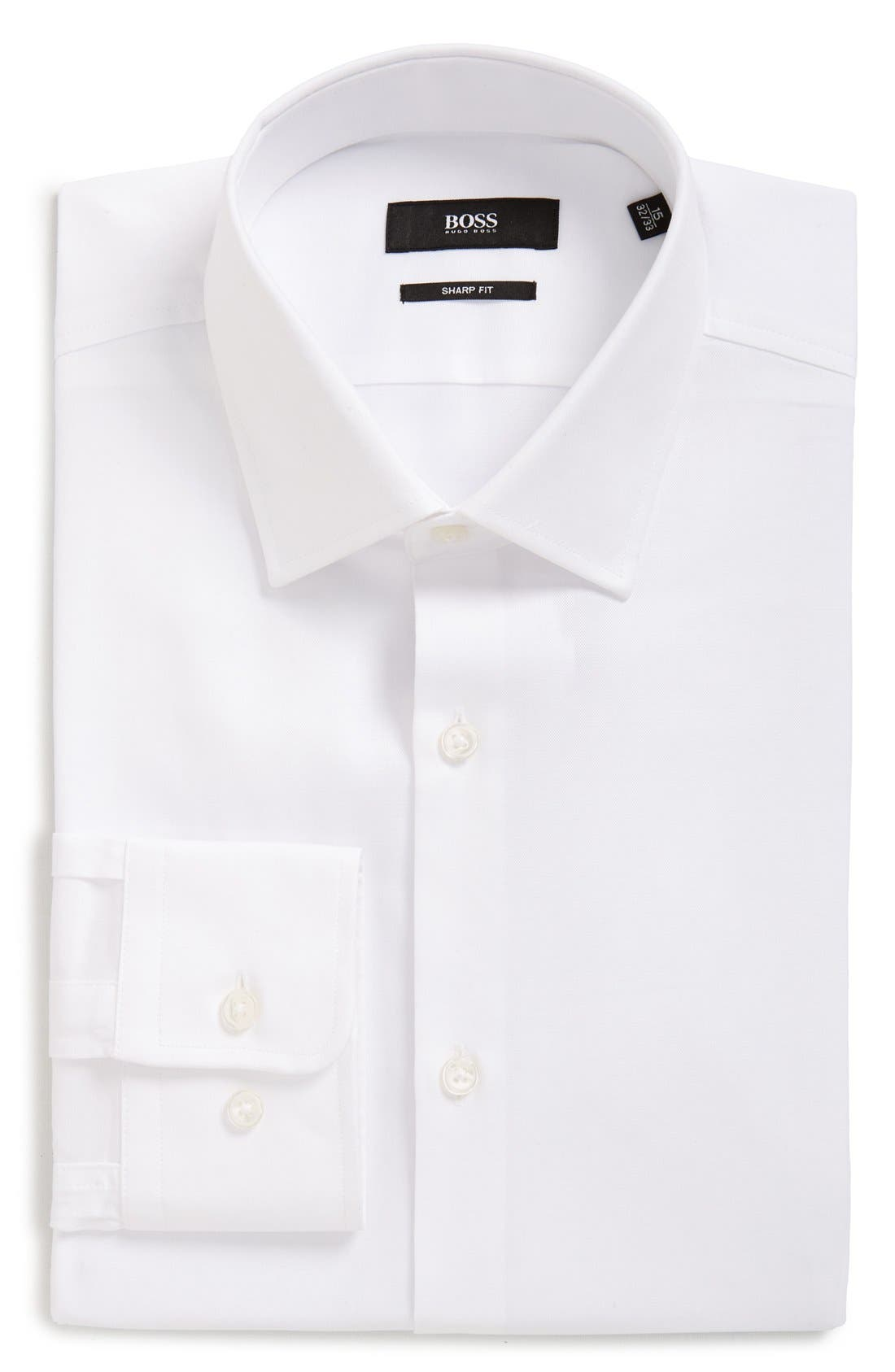Alternate Image 1 Selected - BOSS Sharp Fit Solid Dress Shirt
