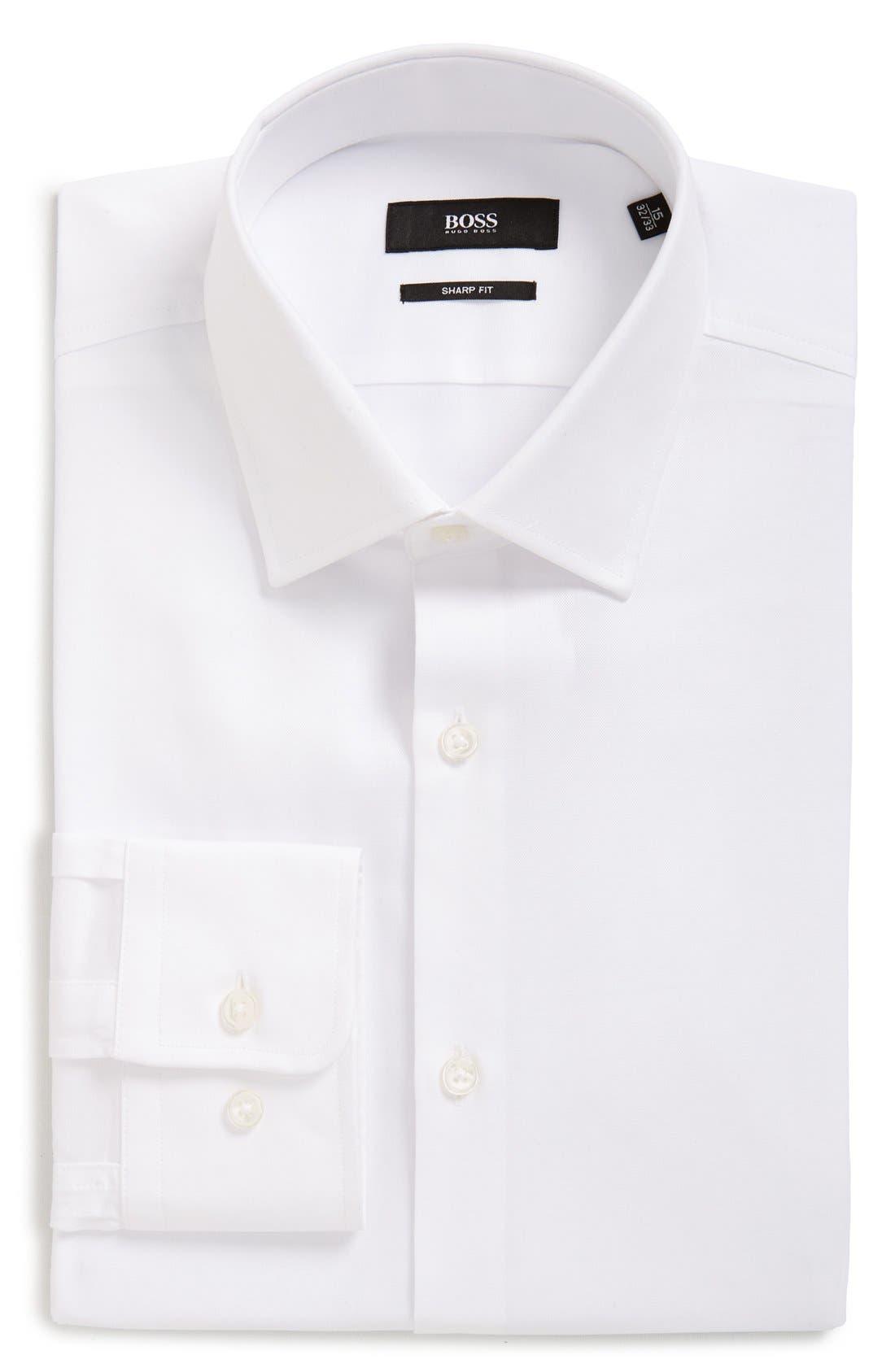 Main Image - BOSS Sharp Fit Solid Dress Shirt