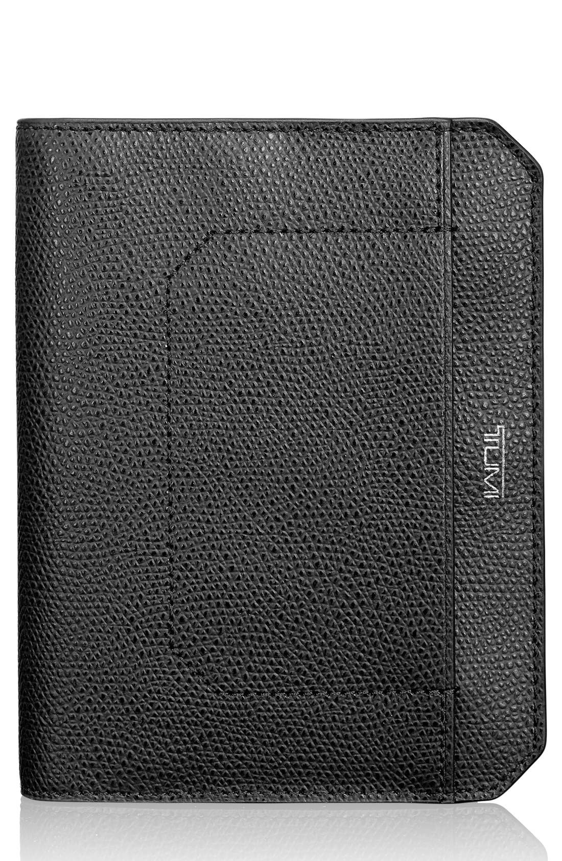 Leather Passport Cover,                         Main,                         color, Black