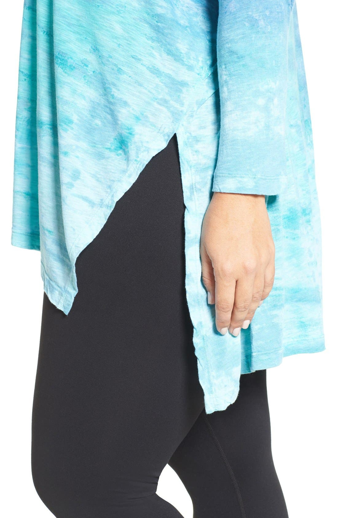 Alternate Image 4  - Hard Tail Oversize Three-Quarter Sleeve Tee (Plus Size)