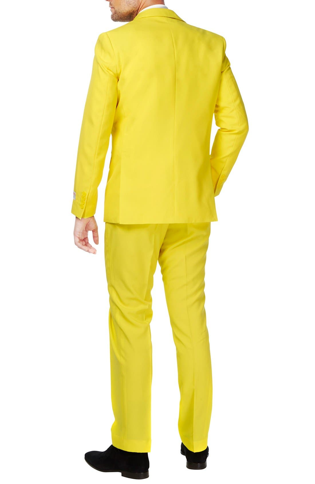 'Yellow Fellow' Trim Fit Two-Piece Suit with Tie,                             Alternate thumbnail 2, color,                             Yellow